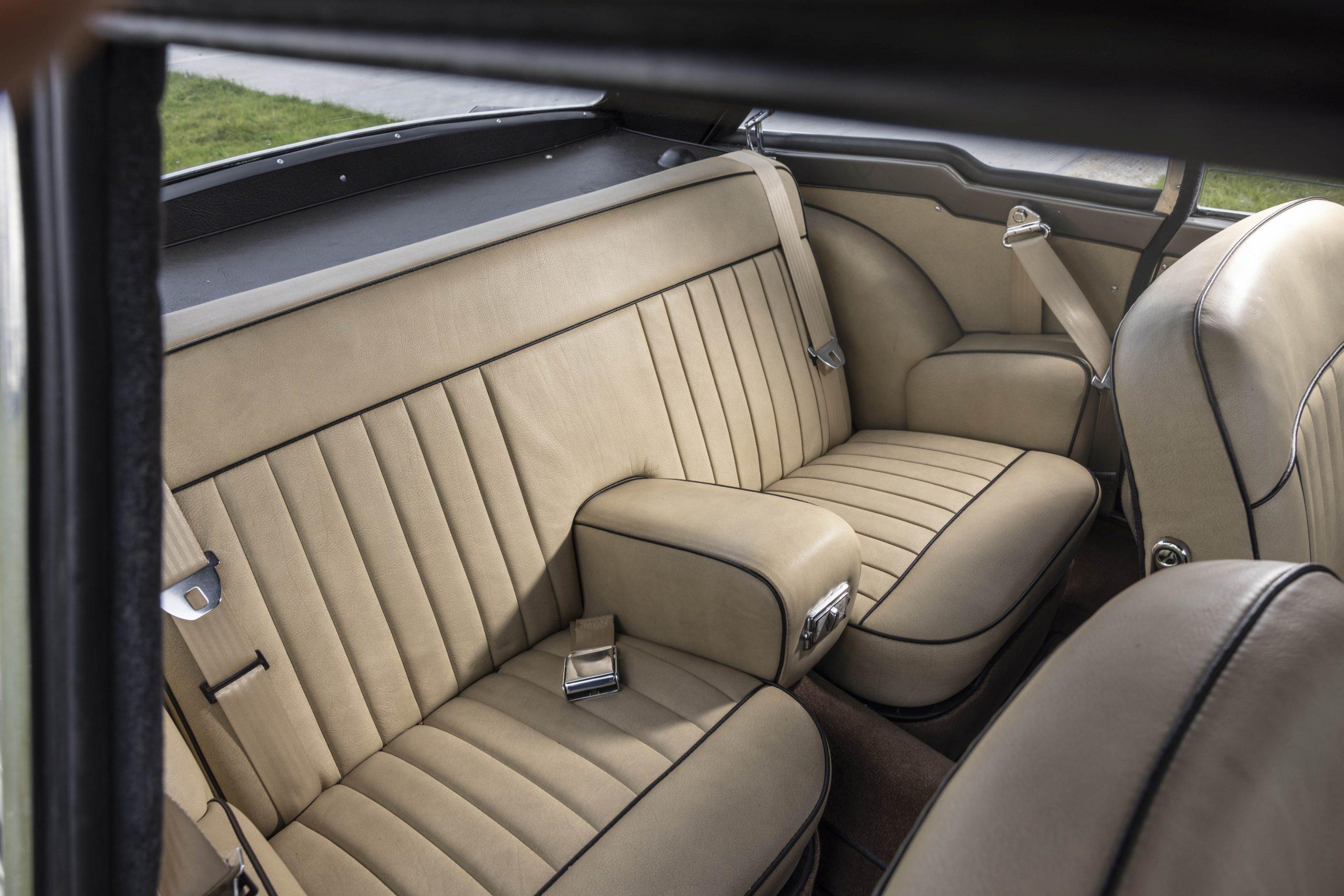 Zagato-bodied Bristol 406 interior rear seat