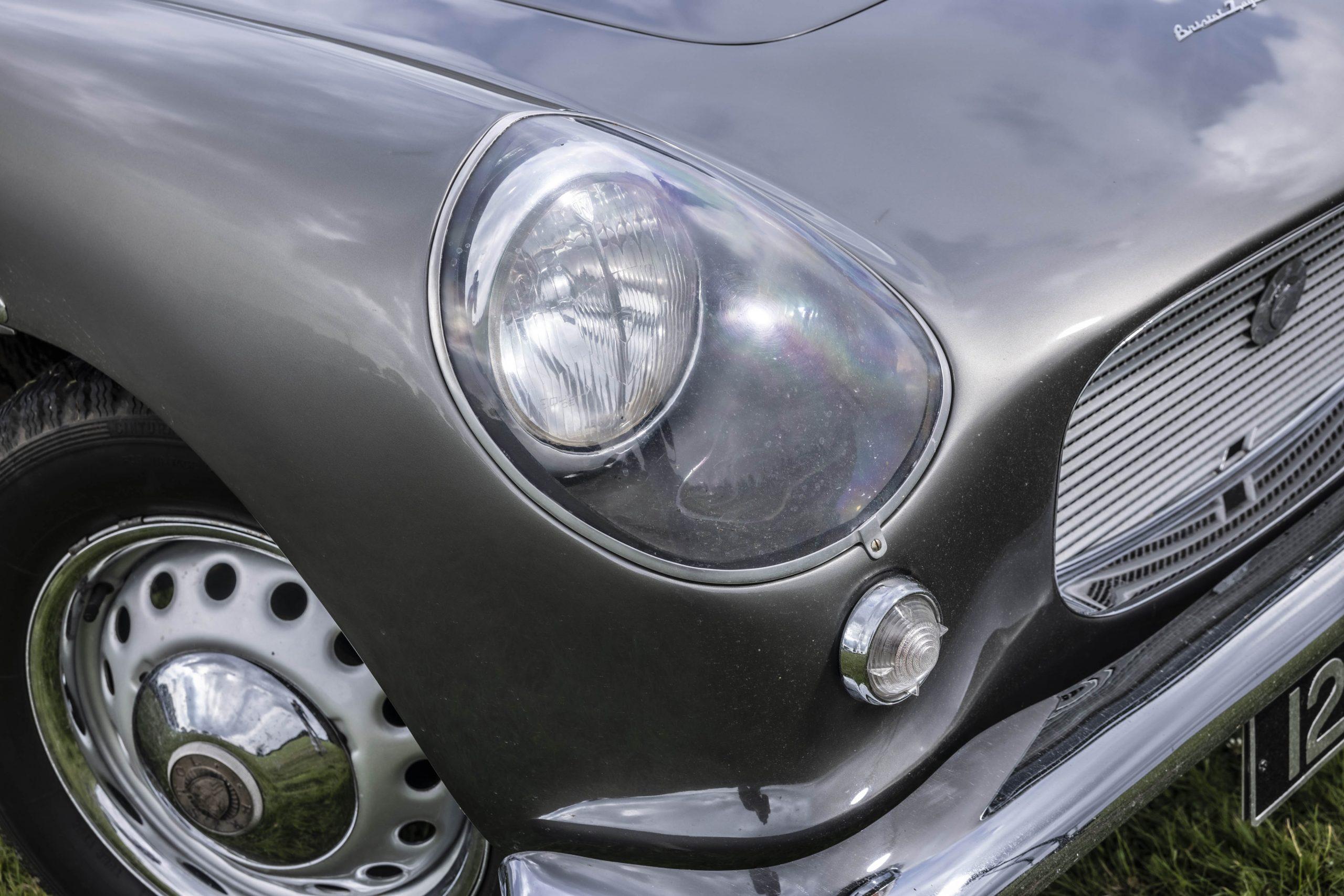 Zagato-bodied Bristol 406 headlight detail