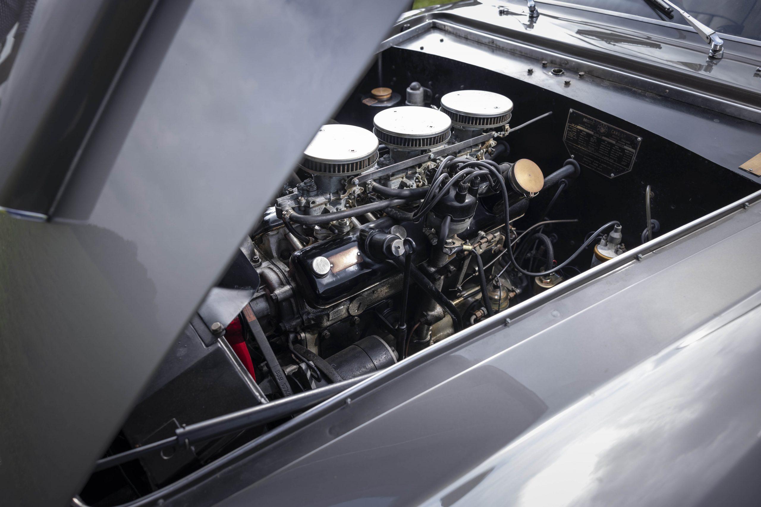 Zagato-bodied Bristol 406 engine