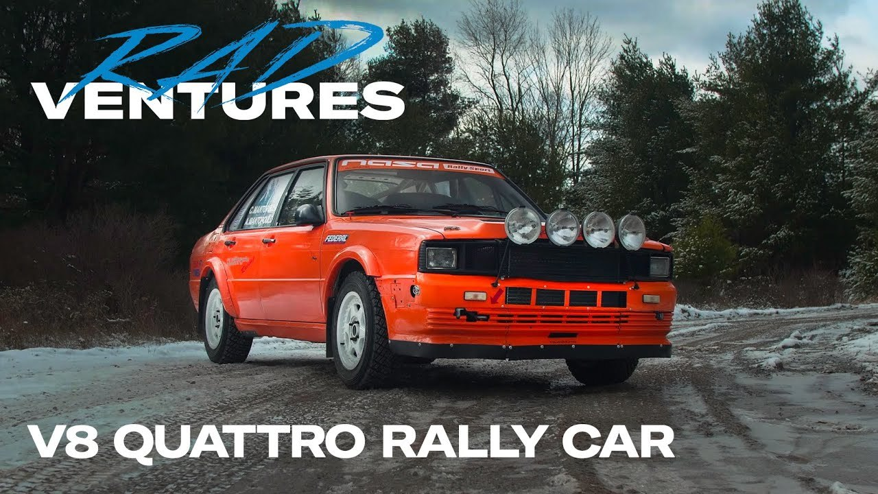 Audi V8 Quattro rally radventures show