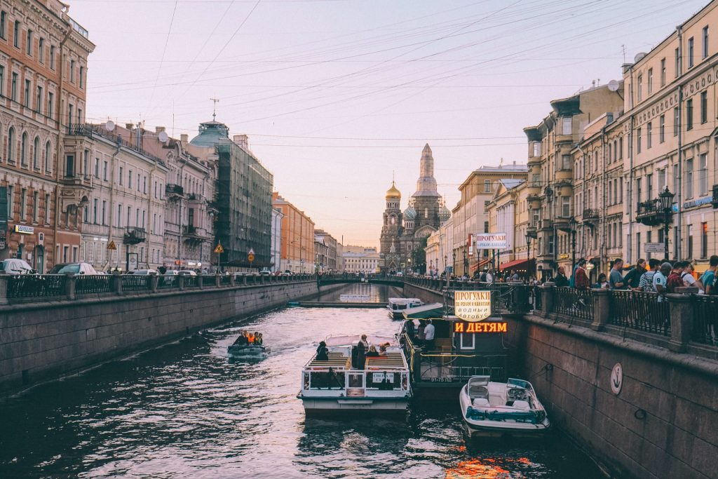 Saint Petersberg Russia canal city