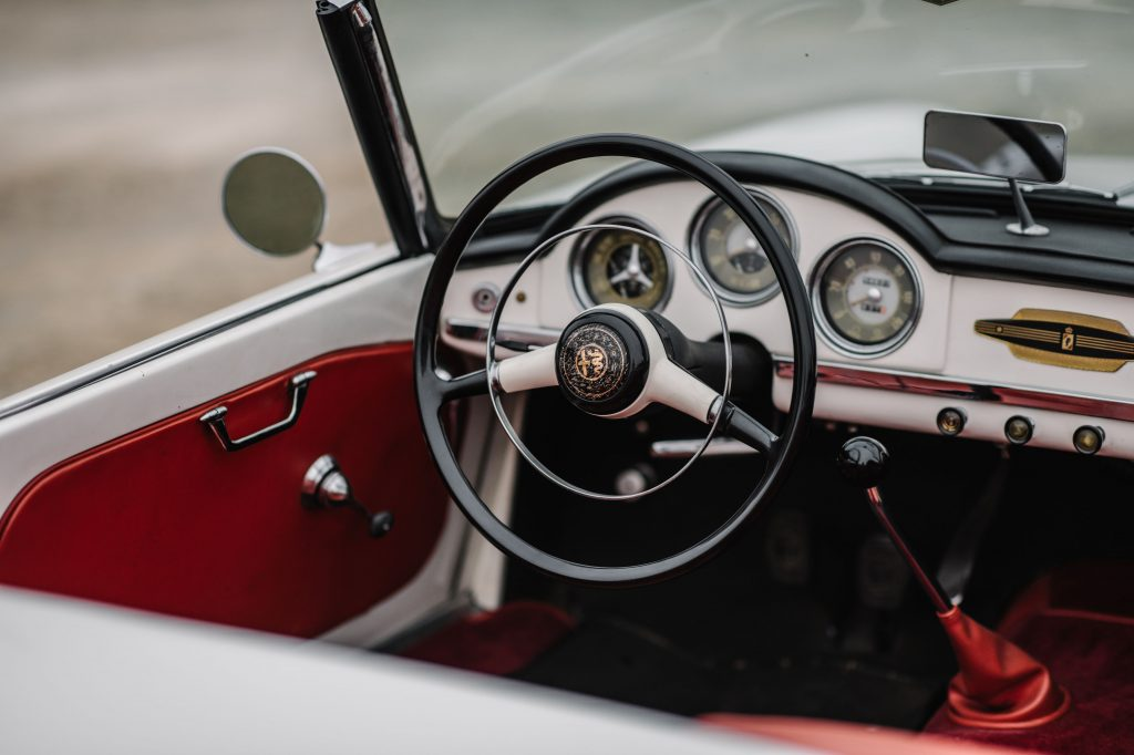 1956 Alfa Romeo Giulietta 750D Spider interior