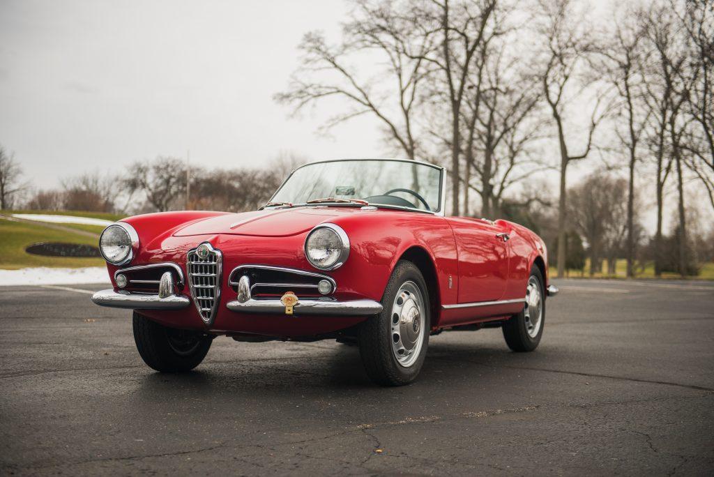 1959 Alfa Romeo Giulietta Spider front three-quarter
