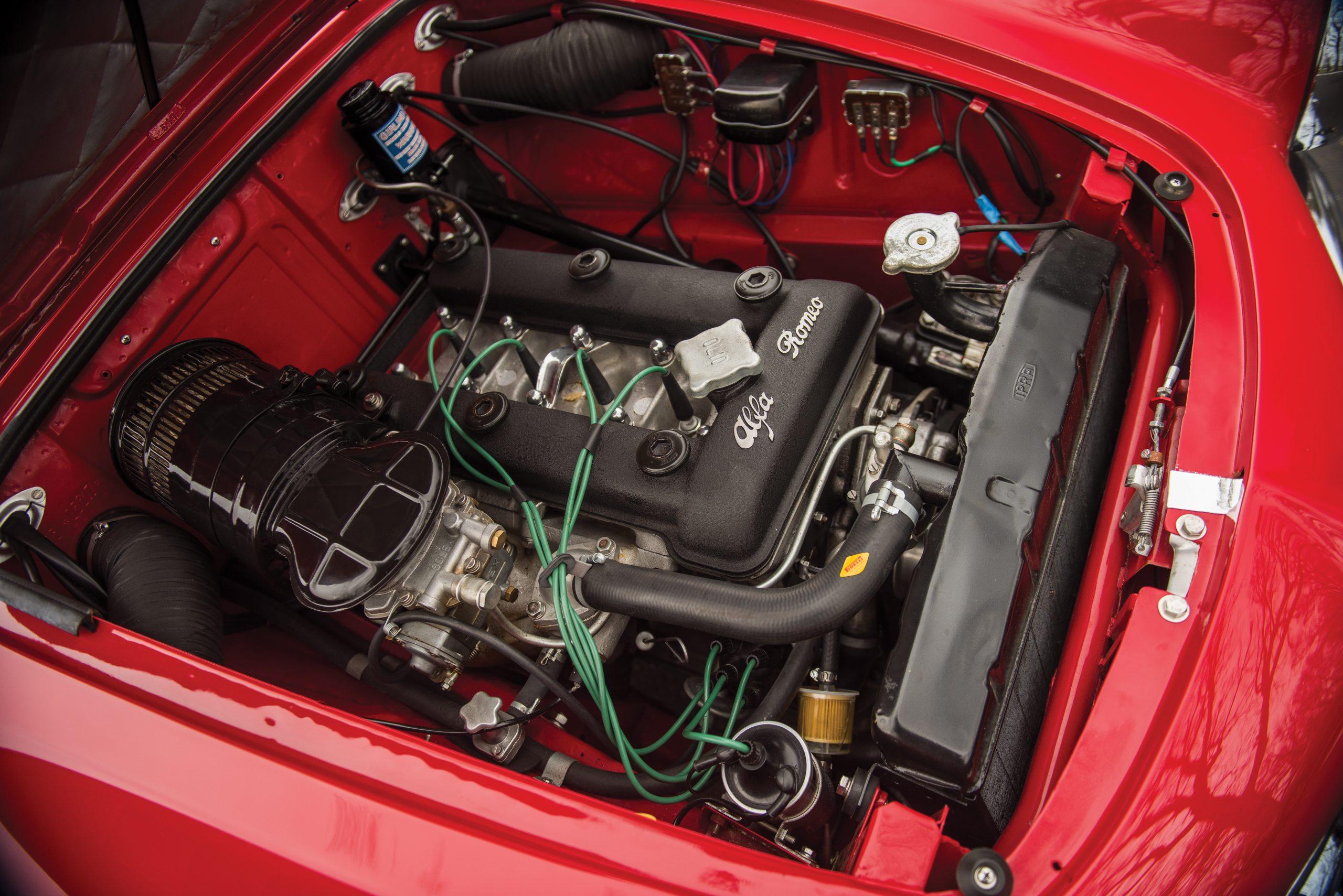 1959 Alfa Romeo Giulietta Spider engine bay
