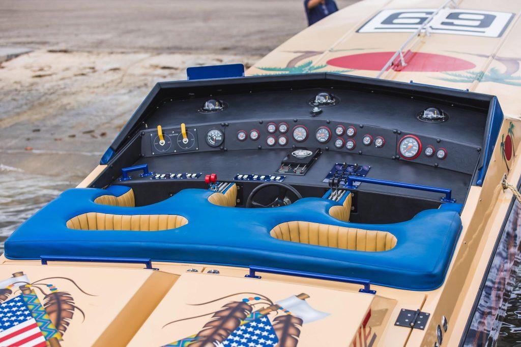 1984 Apache Offshore Powerboat Warpath cockpit