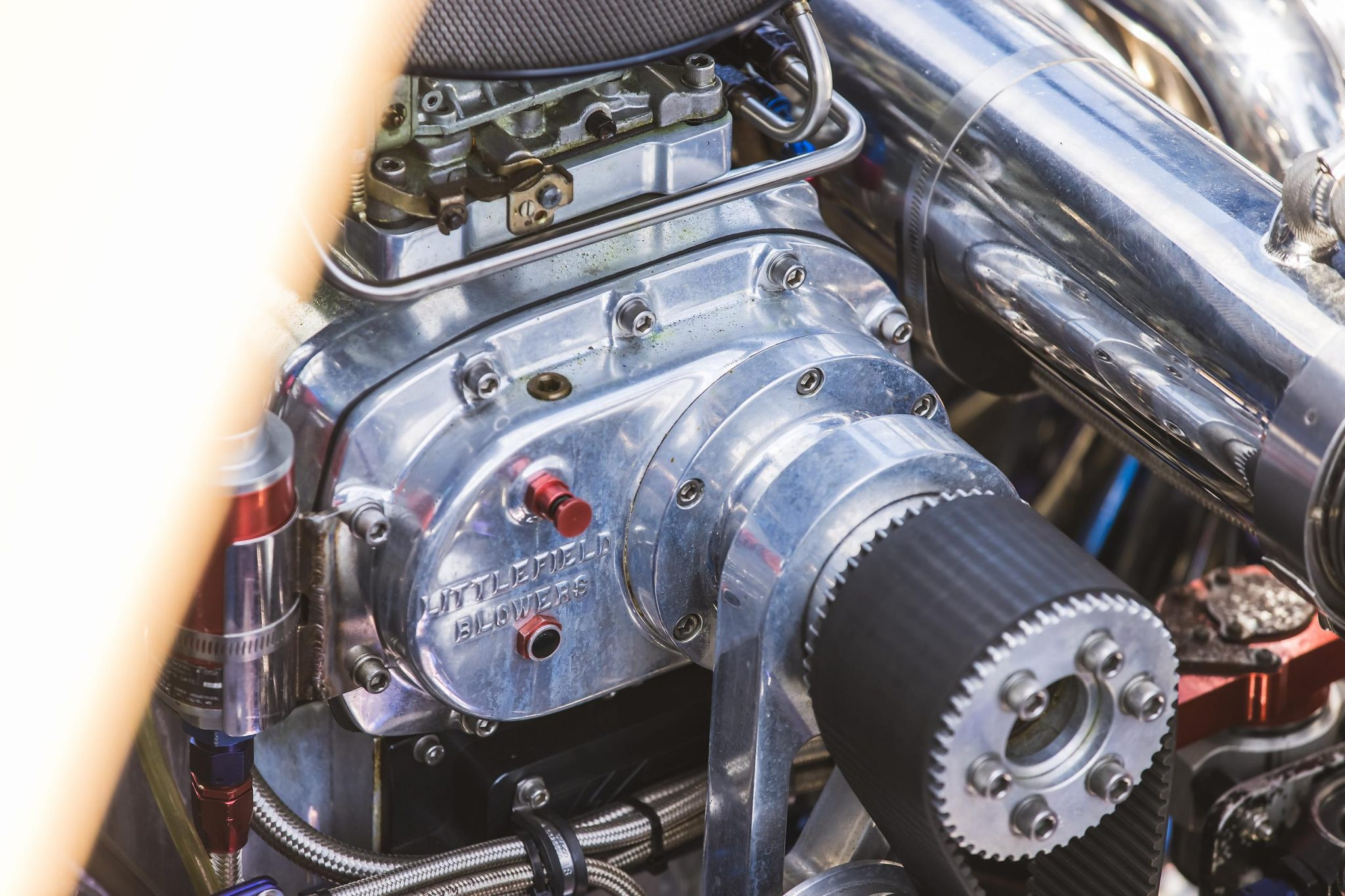 1984 Apache Offshore Powerboat Warpath engine detail