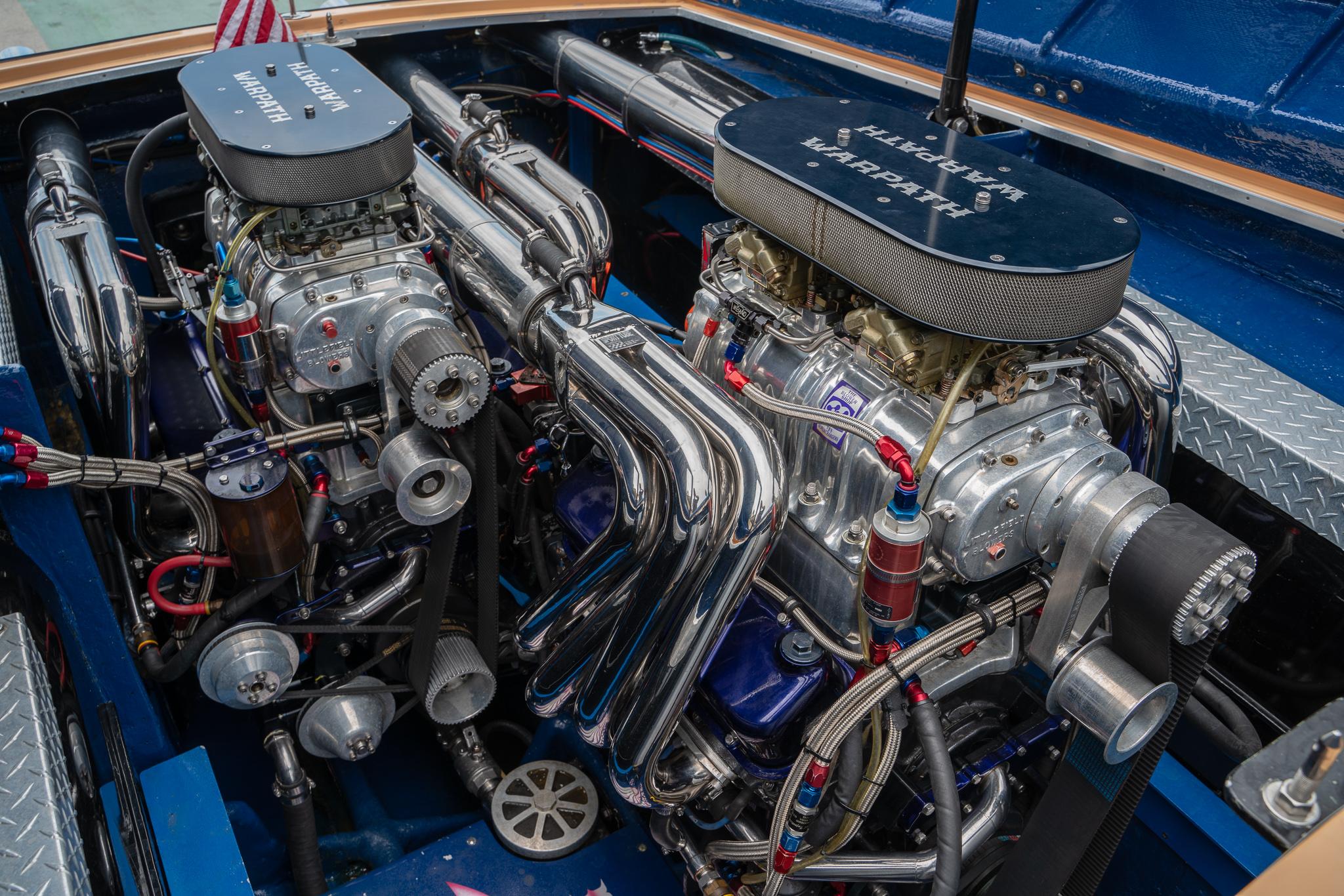 1984 Apache Offshore Powerboat Warpath engines