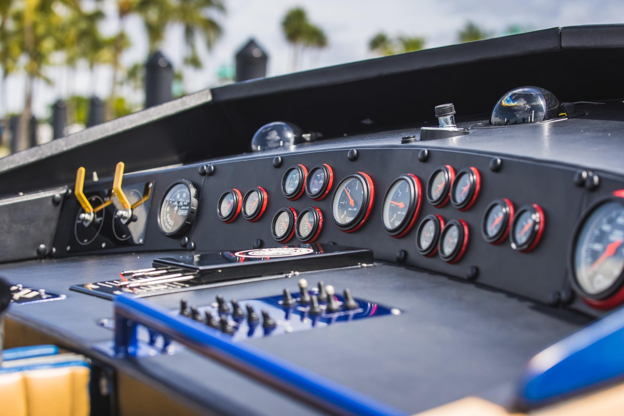1984 Apache Offshore Powerboat Warpath console gauges