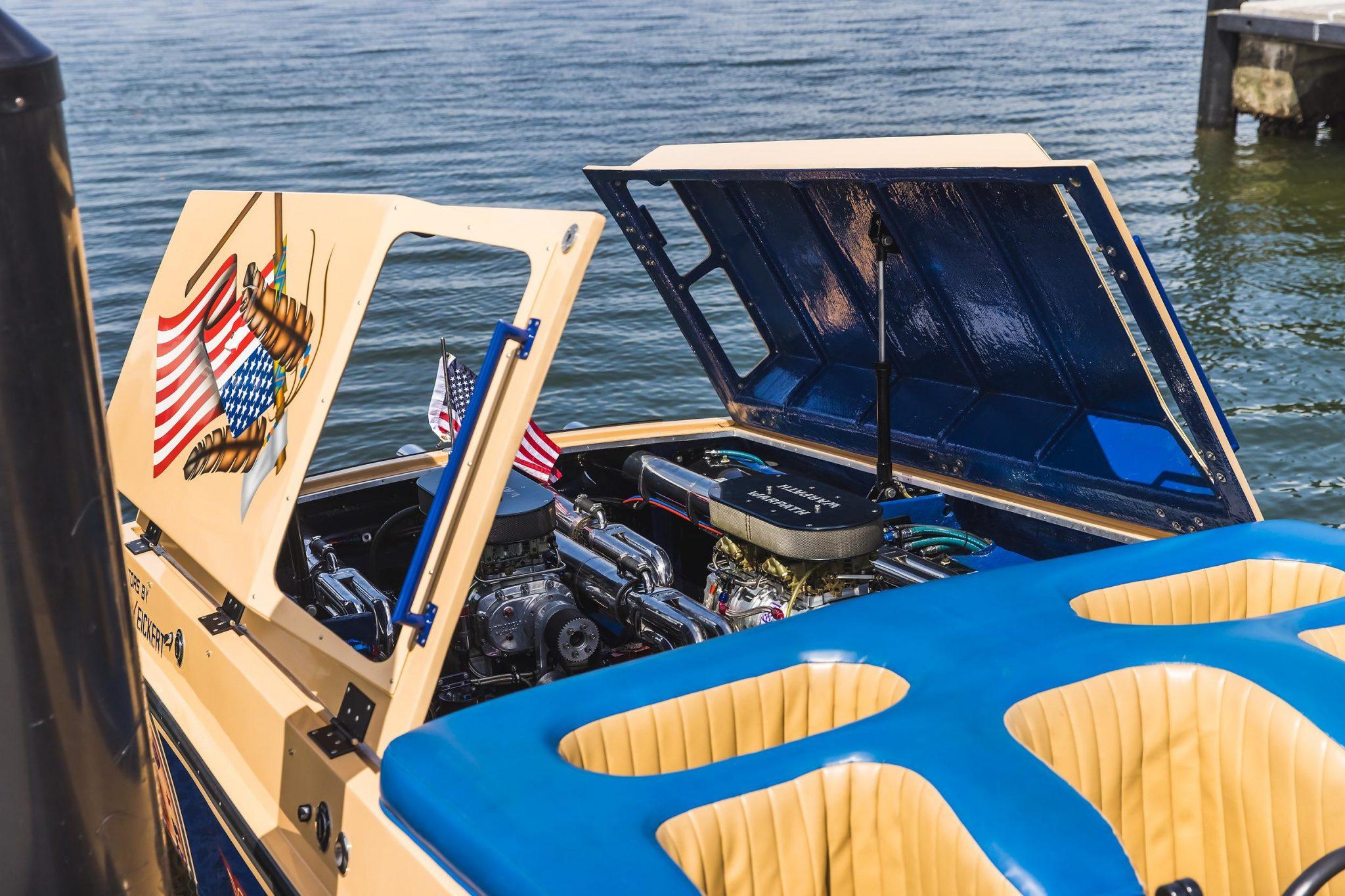 1984 Apache Offshore Powerboat Warpath engine bay
