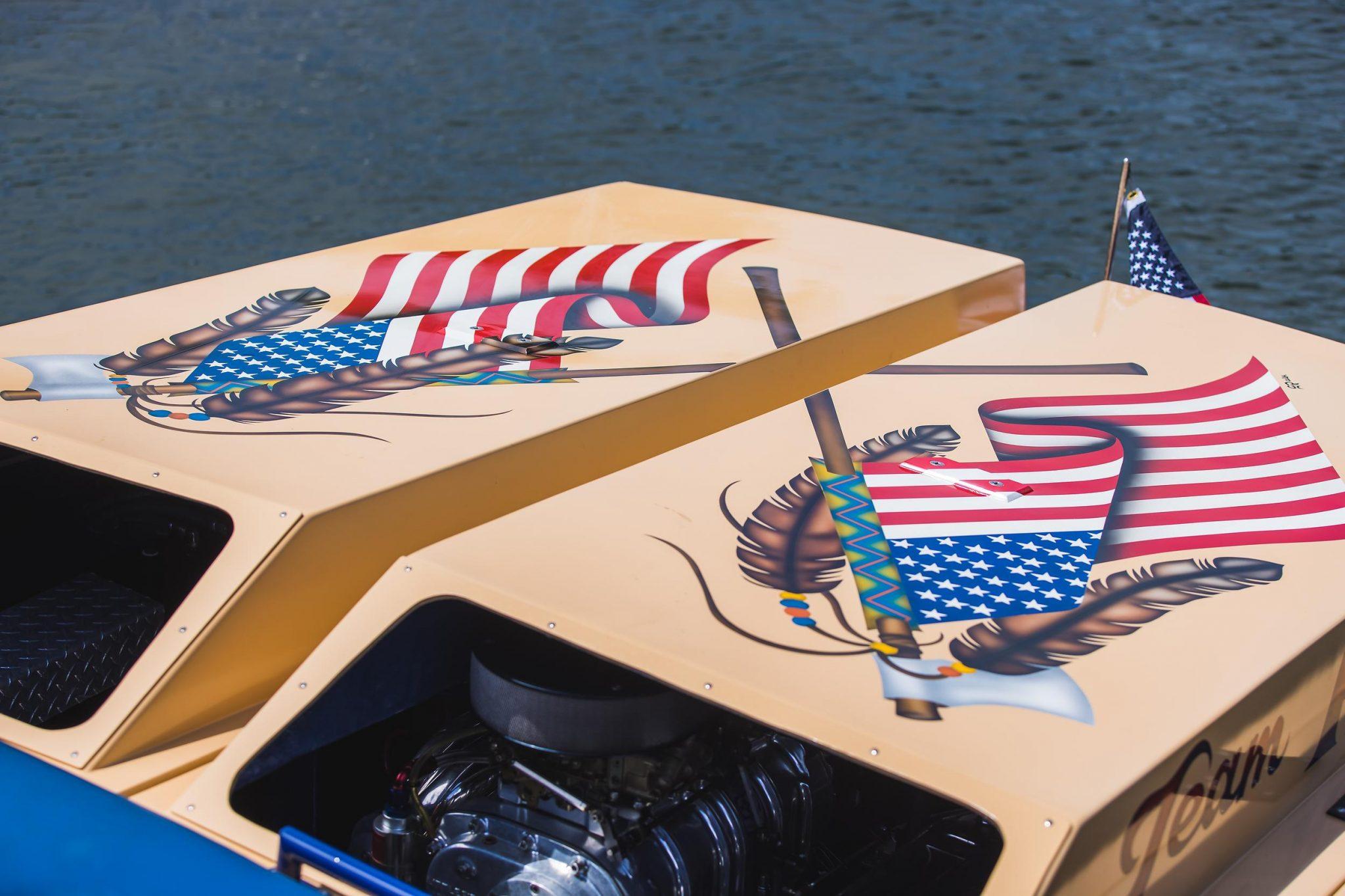 1984 Apache Offshore Powerboat Warpath decals