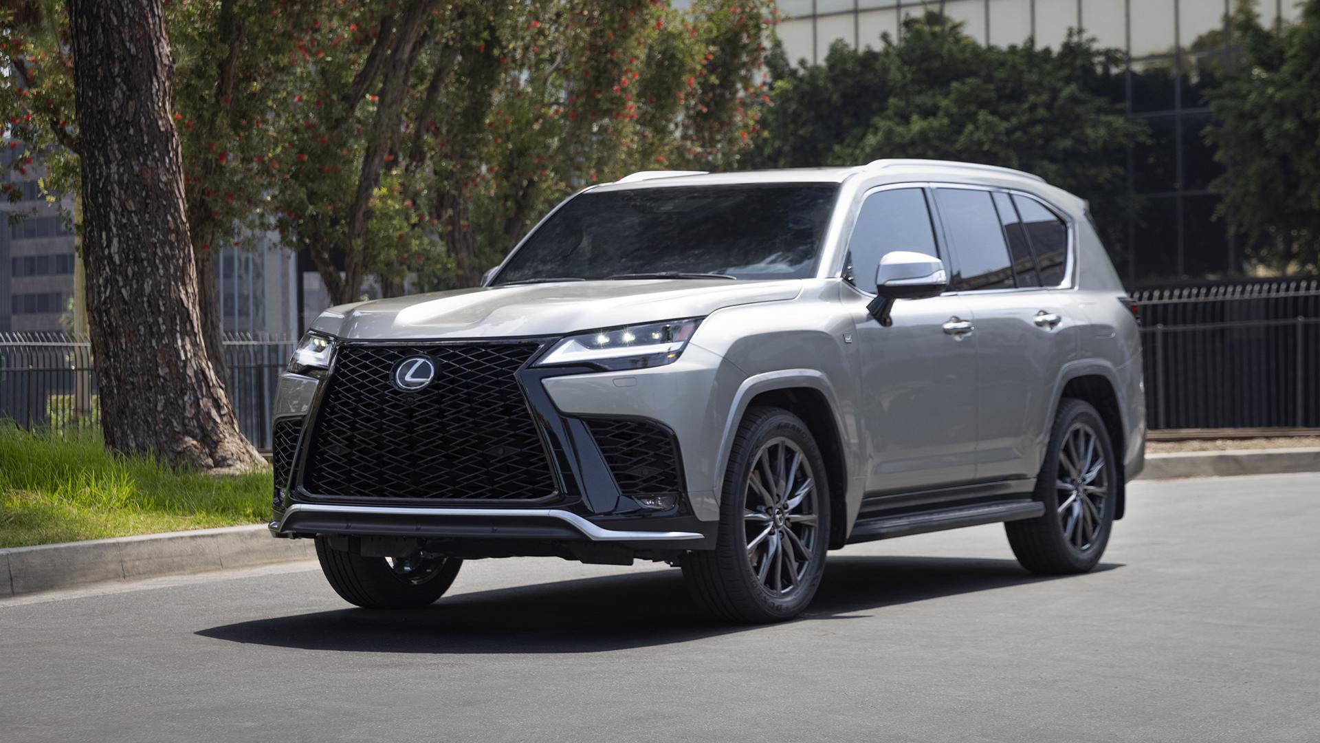 2022 Lexus LX 600 front three-quarter urban