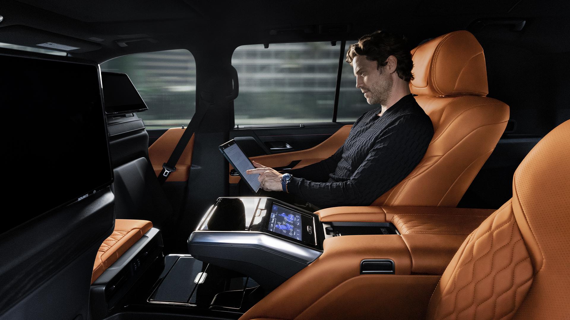 2022 Lexus LX 600 interior rear