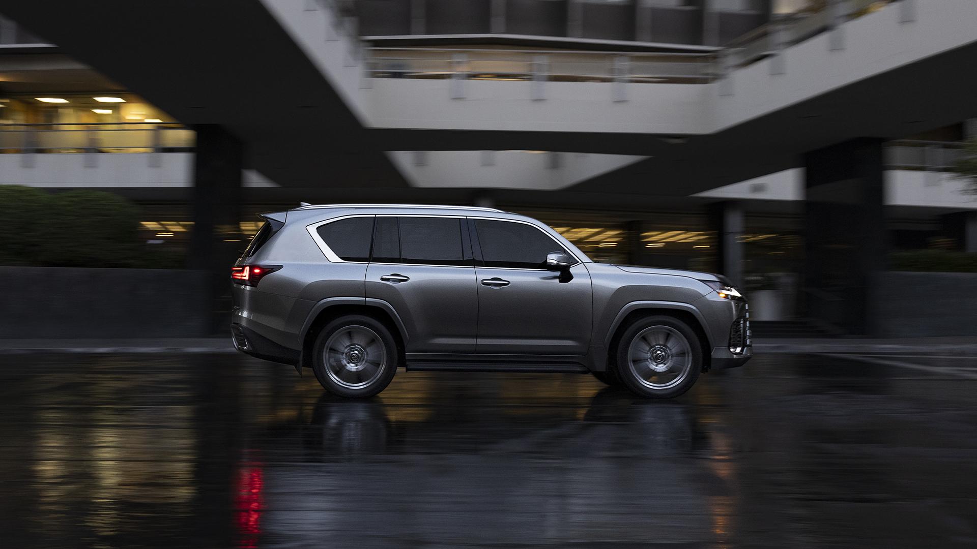 2022 Lexus LX 600 side profile action urban