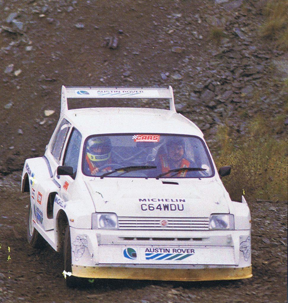 Ayrton Senna rally racing action United Kingdom