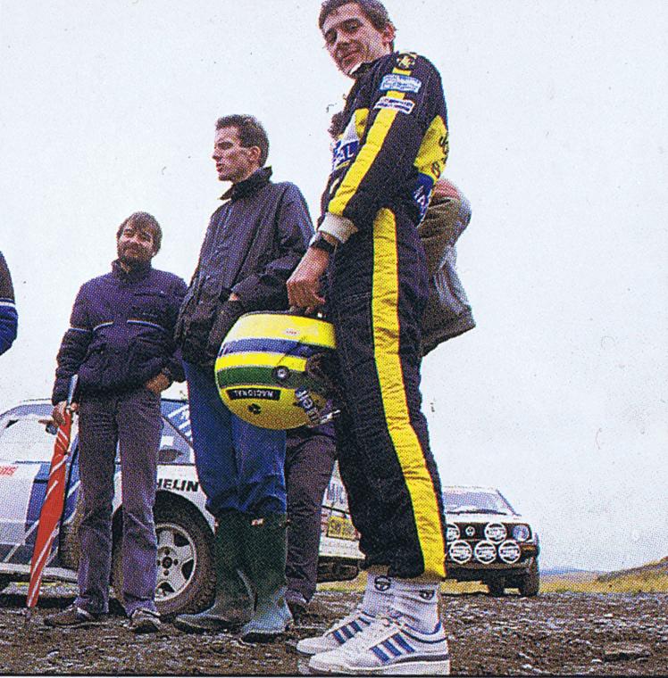 Ayrton Senna rally racing portrait United Kingdom