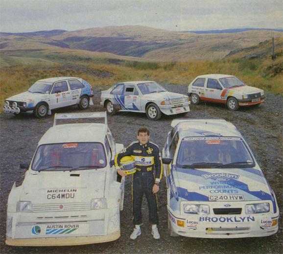Ayrton Senna rally racing cars United Kingdom