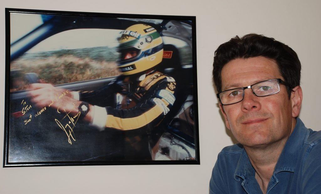 Ayrton Senna signed rally racing image