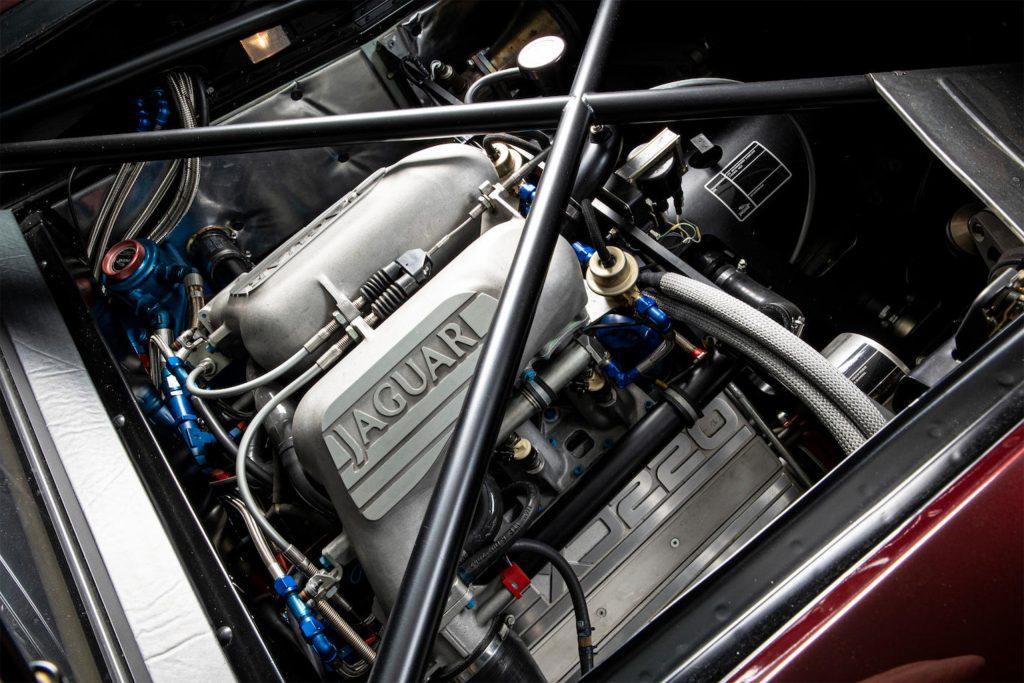 jaguar d type engine bay