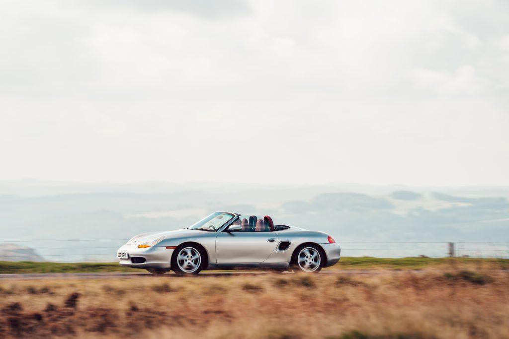 1998 Porsche Boxster 986 driving action