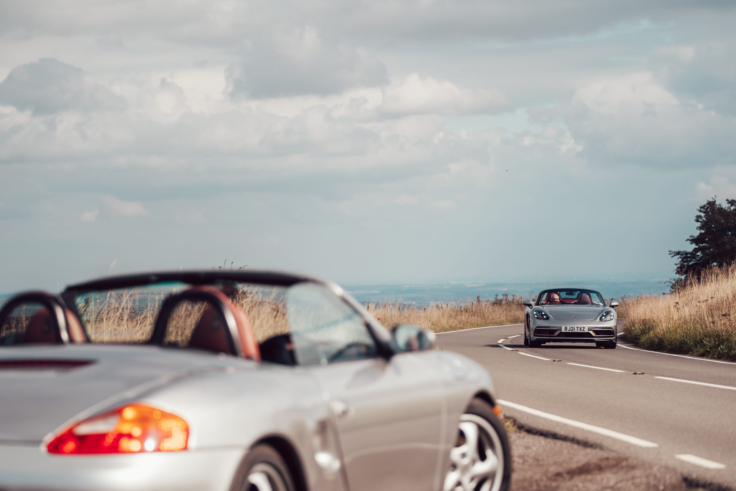 2021 Porsche Boxster 25 Years driving action
