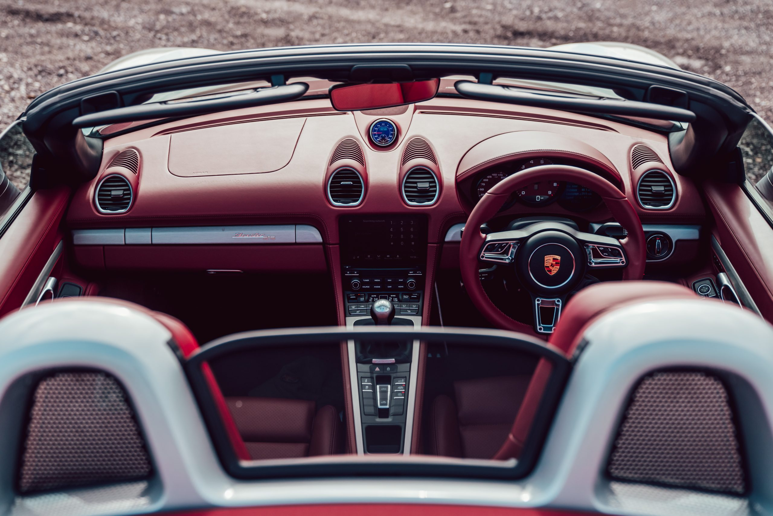2021 Porsche Boxster 25 Years interior front