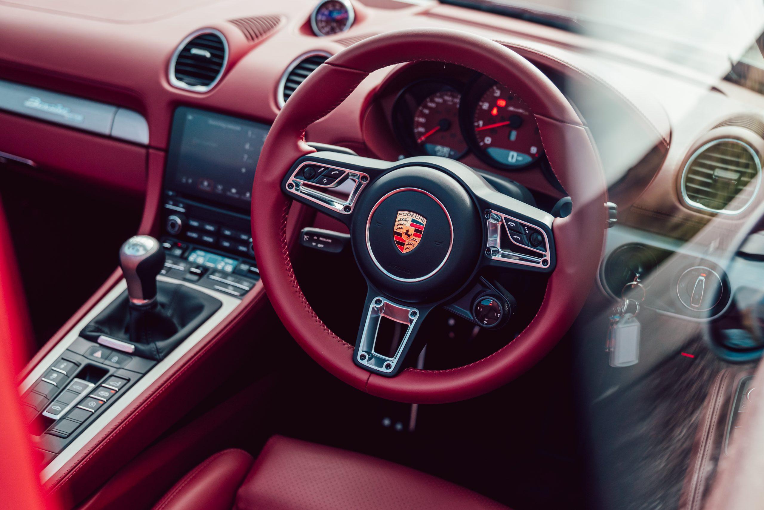2021 Porsche Boxster 25 Years interior cockpit steering wheel