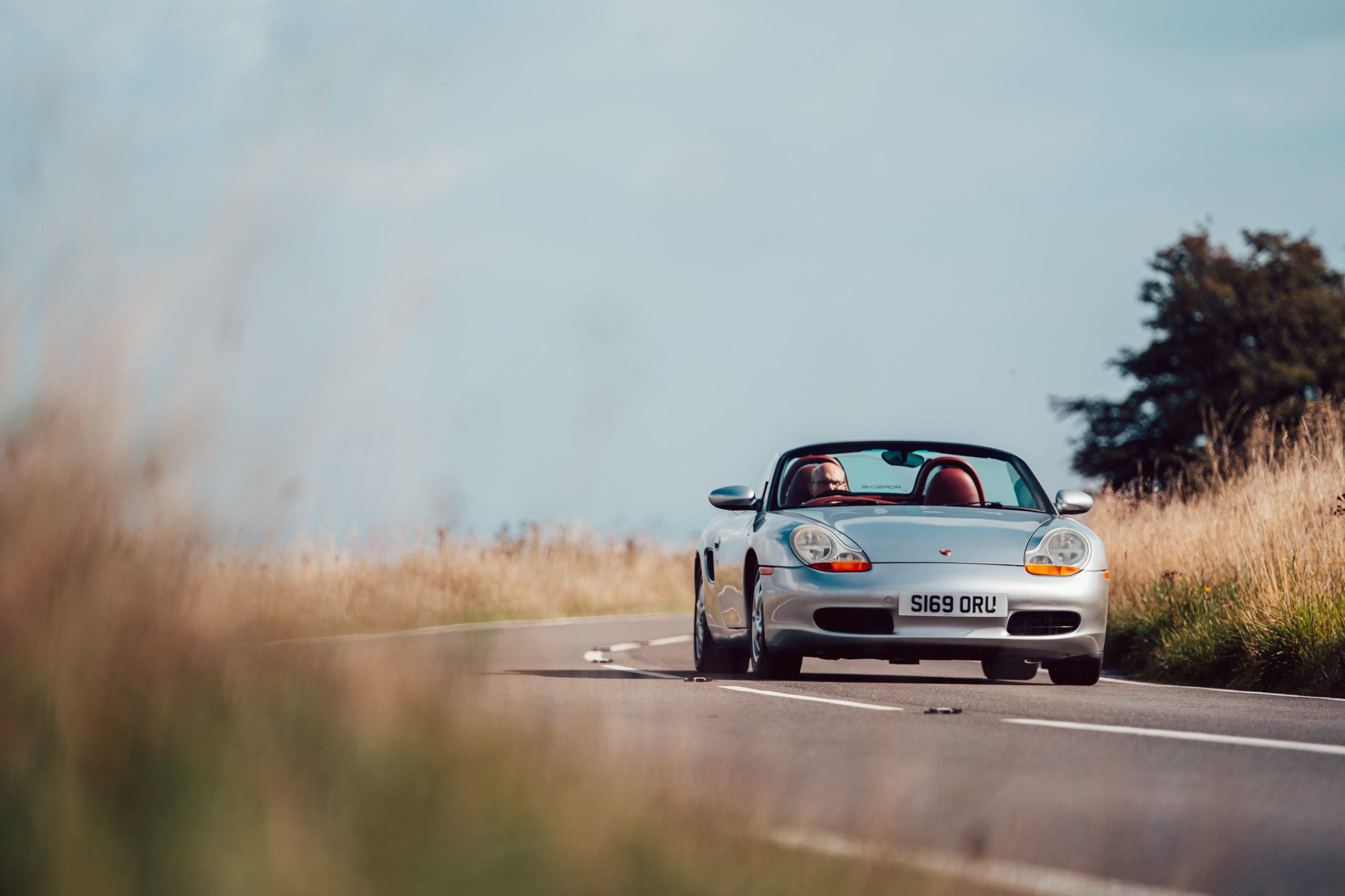 1998 Porsche Boxster 986 front driving action