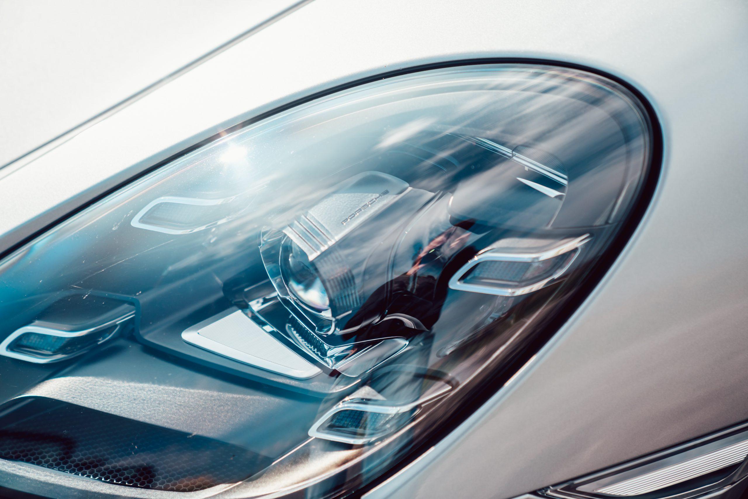 2021 Porsche Boxster 25 Years headlight closeup