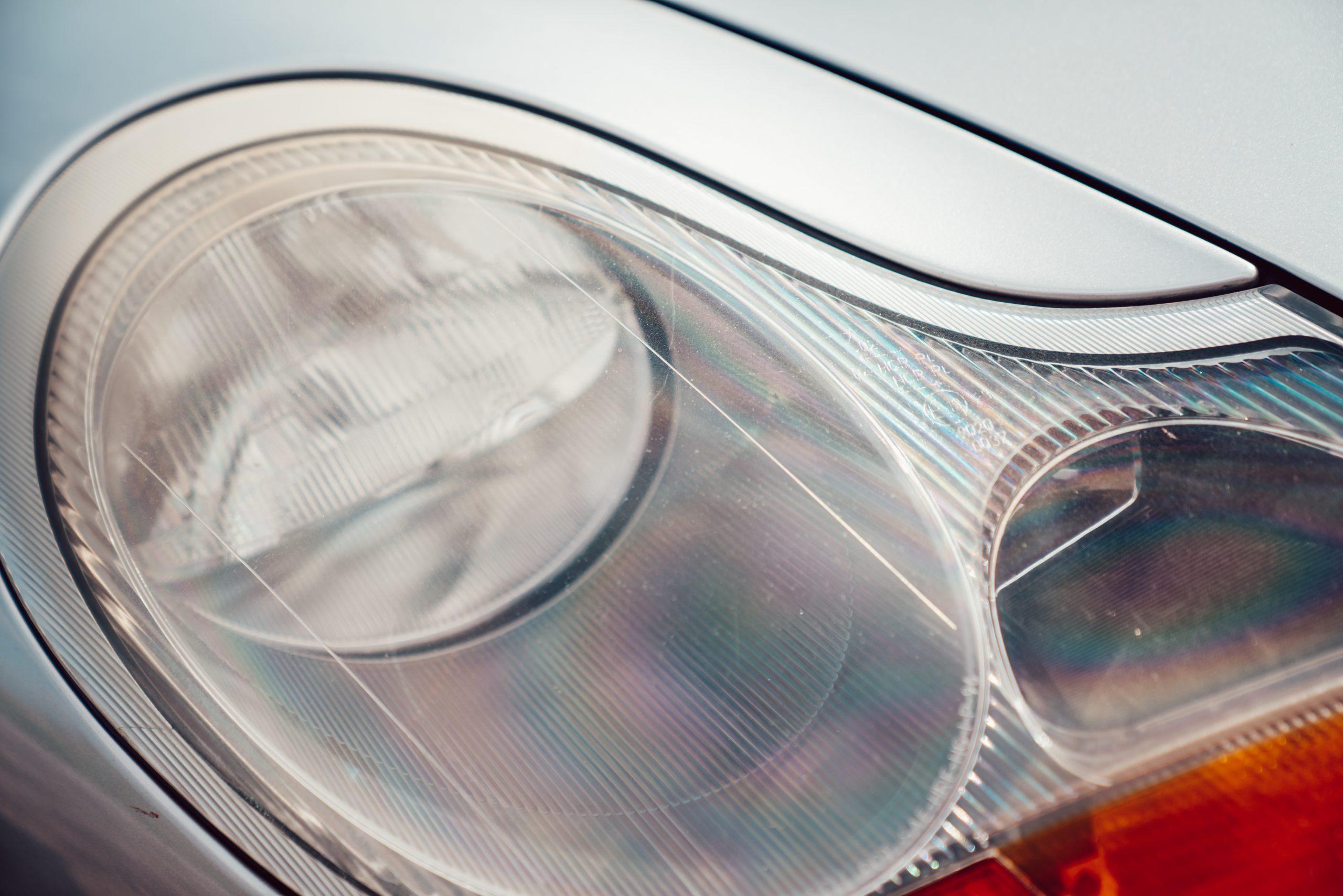 1998 Porsche Boxster 986 headlight closeup