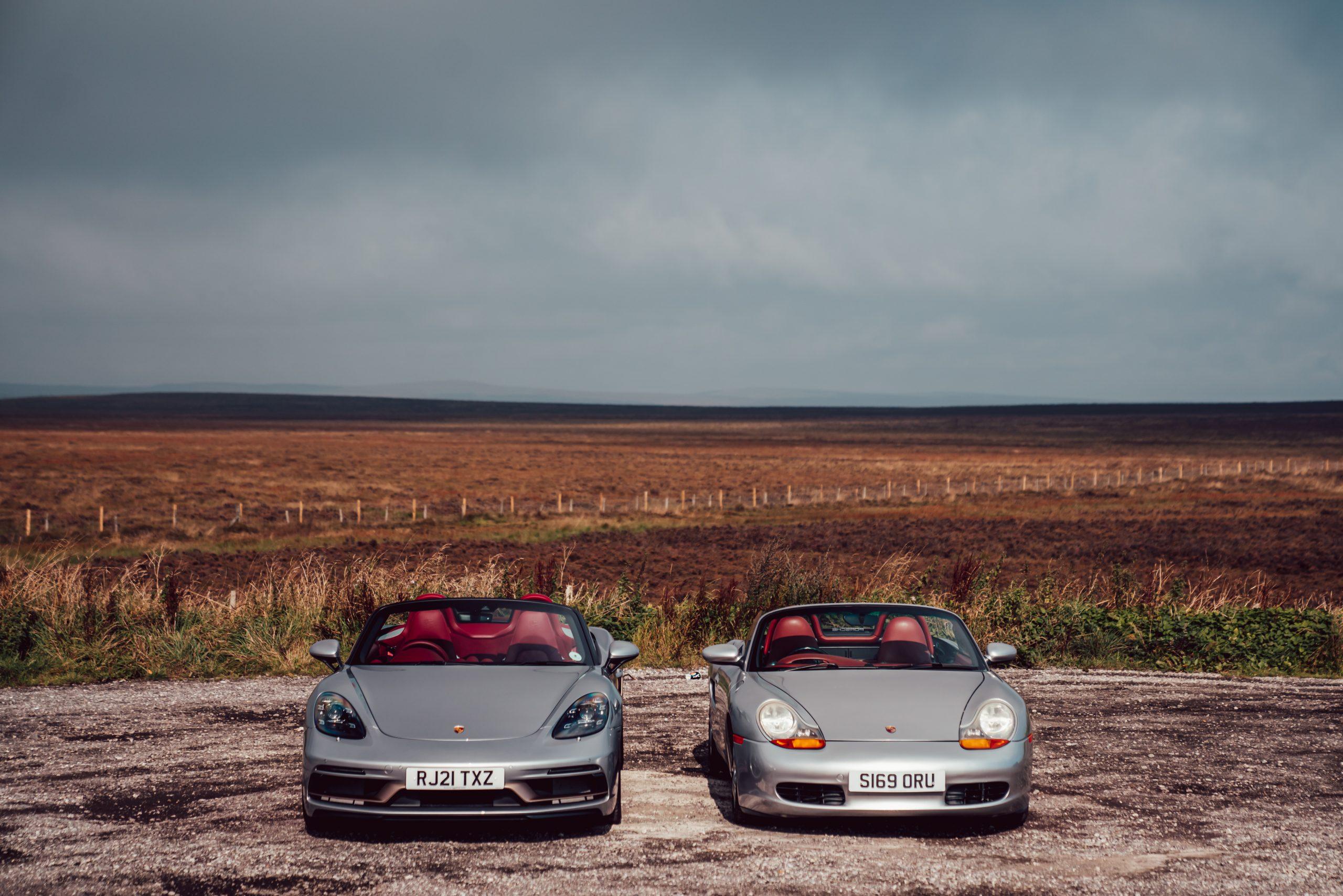 Porsche Boxsters front