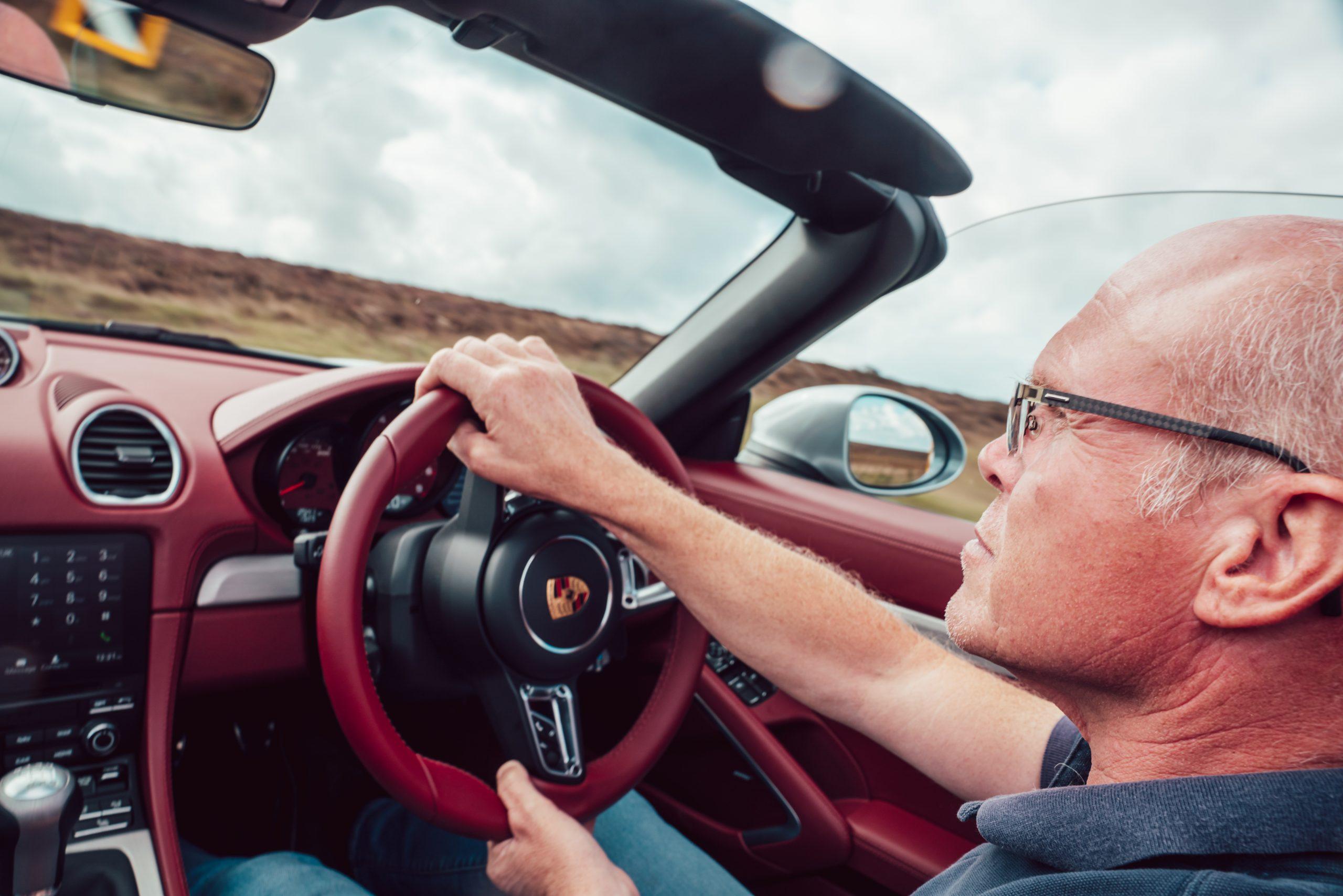 2021 Porsche Boxster 25 Years interior driving action