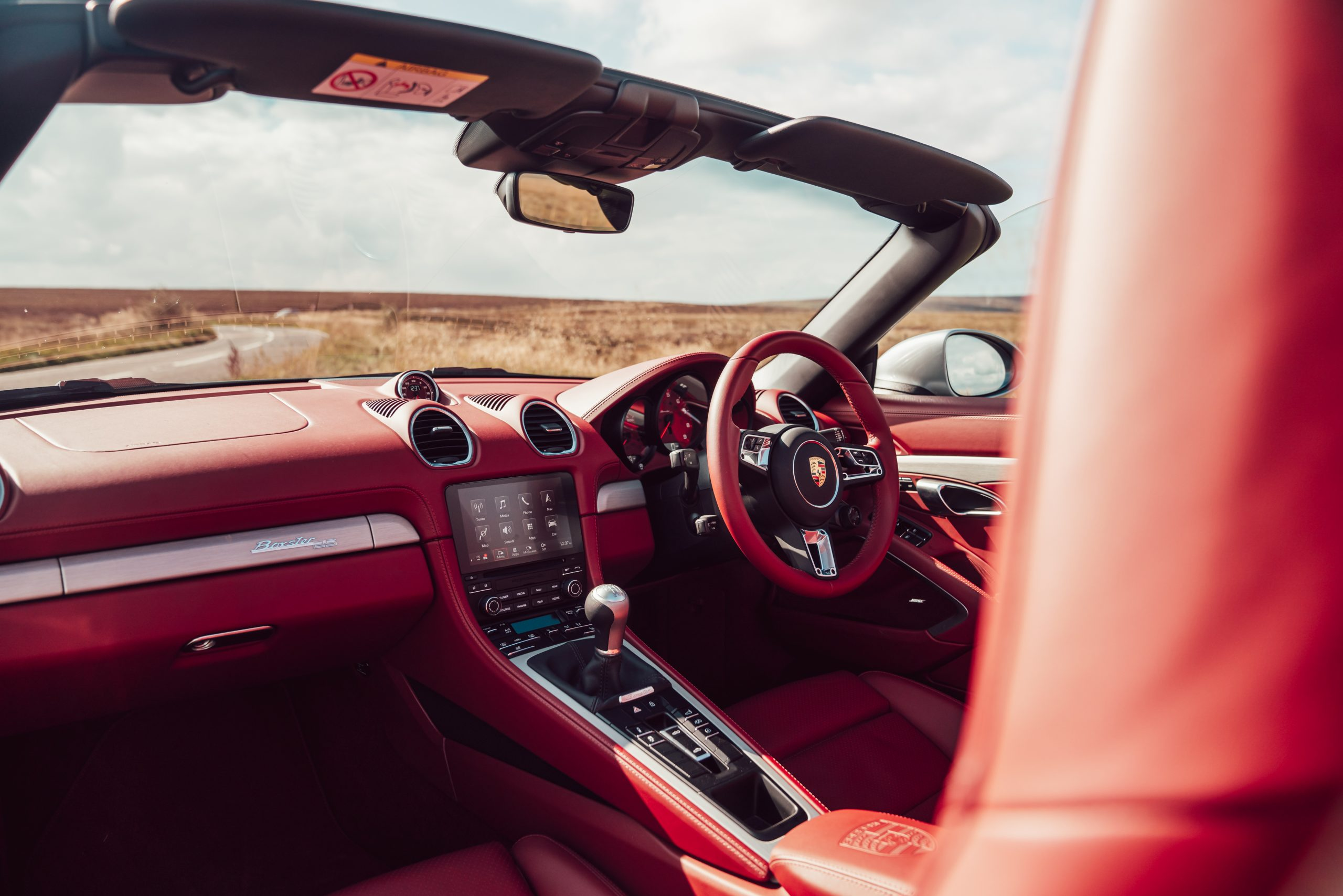 2021 Porsche Boxster 25 Years interior cockpit angle