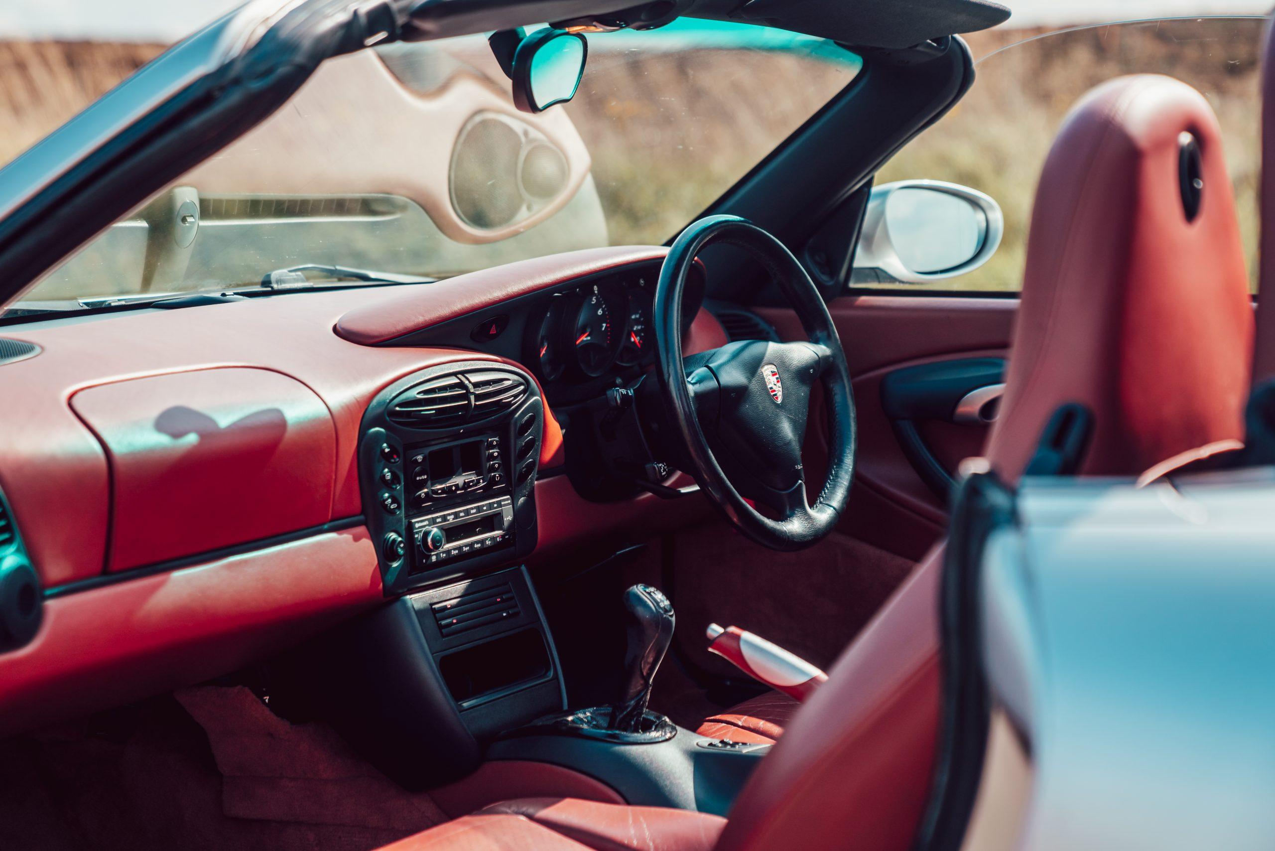 1998 Porsche Boxster 986 interior cockpit angle