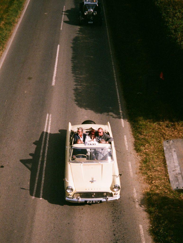 Goodwood Revival film taxi vertical