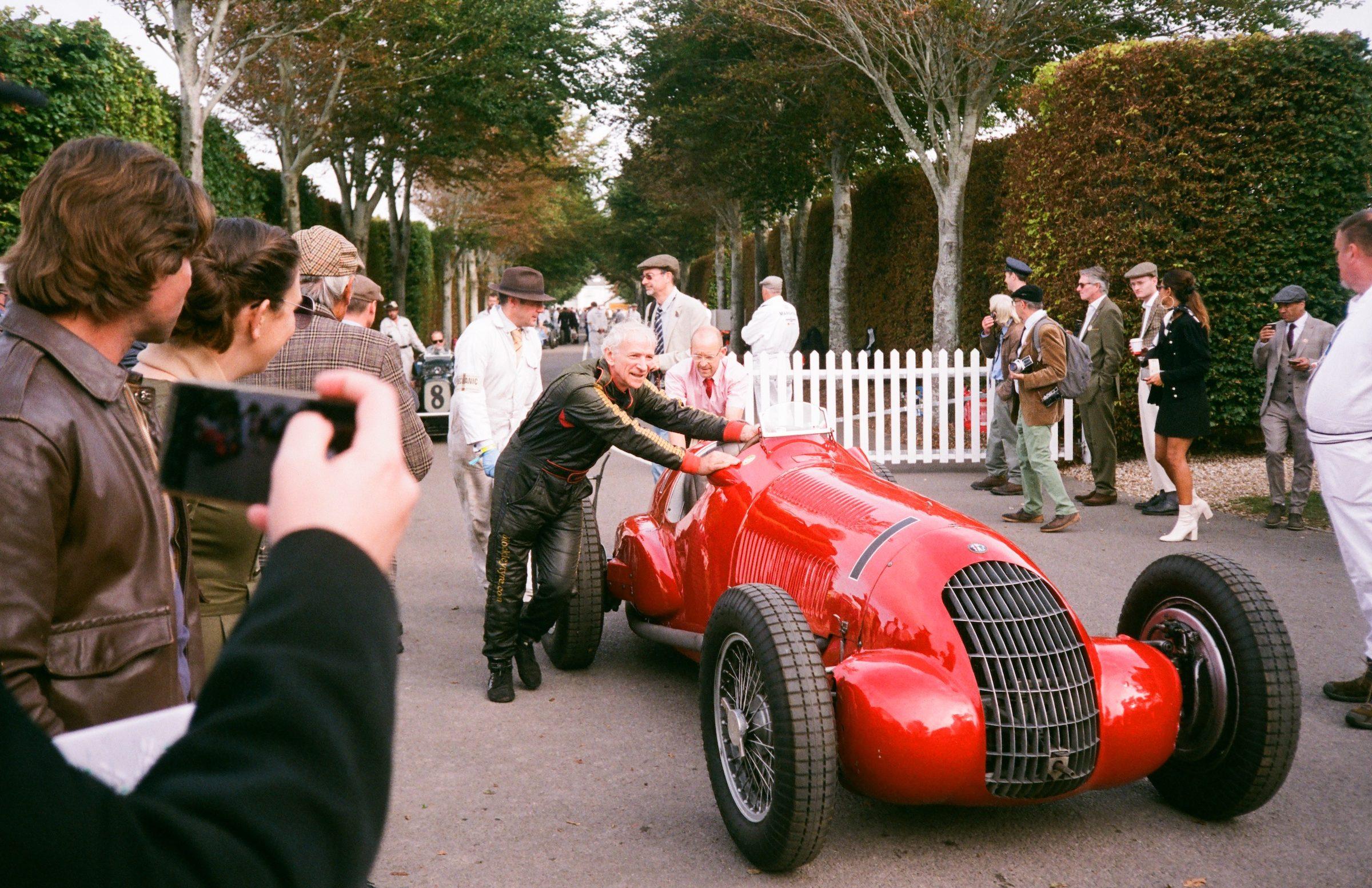 Goodwood Revival film open wheel vintage racer