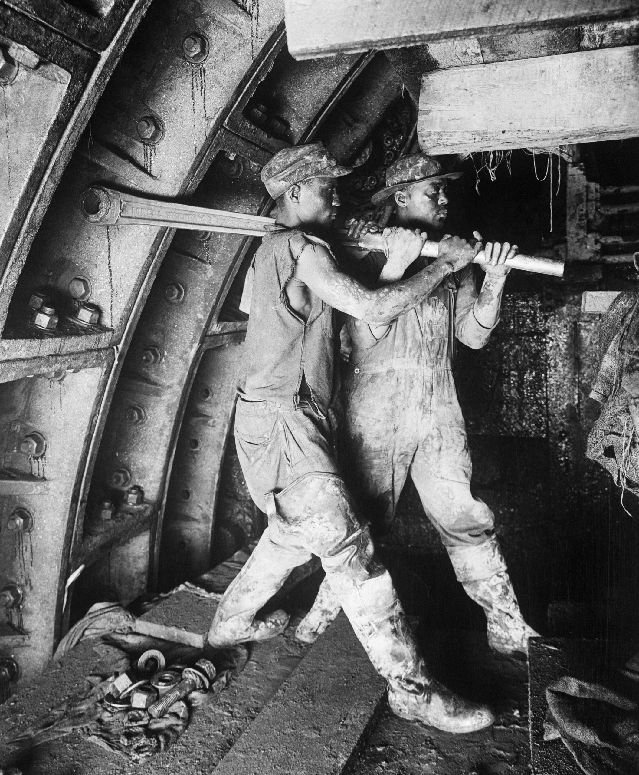 Men Working On Holland Tunnel Rivet