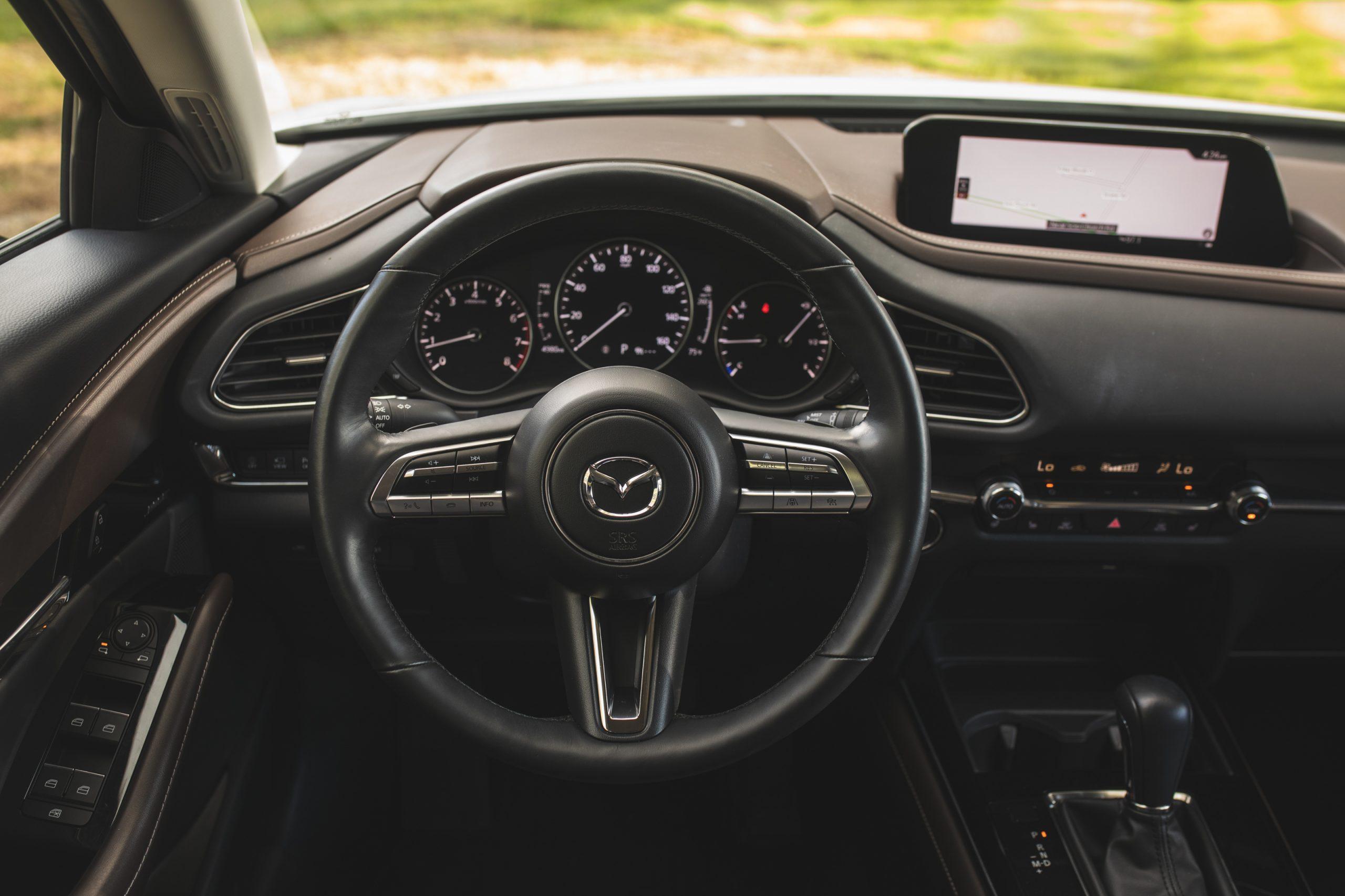 Mazda CX30 interior driver seat view