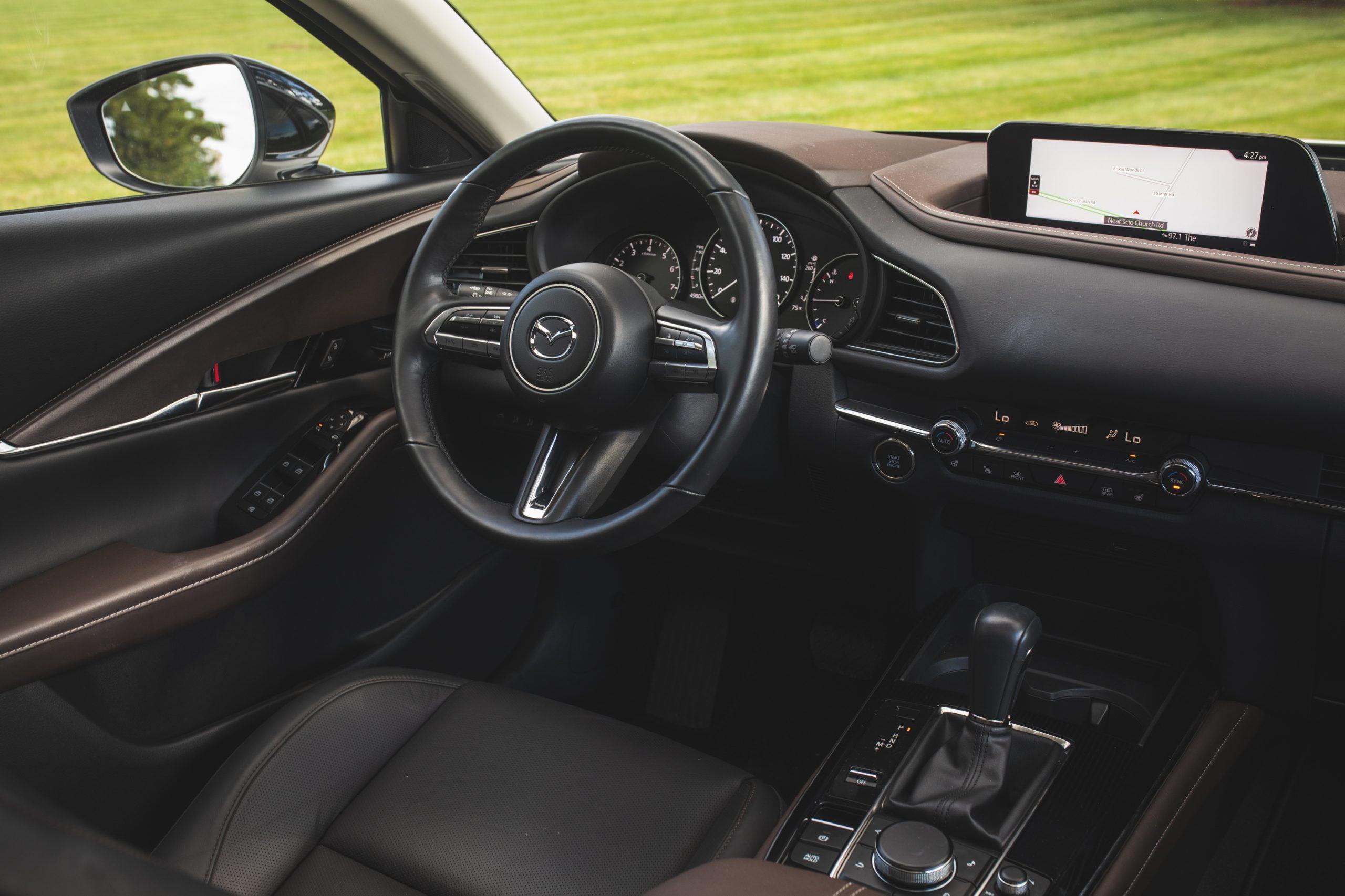 Mazda CX30 interior front angle