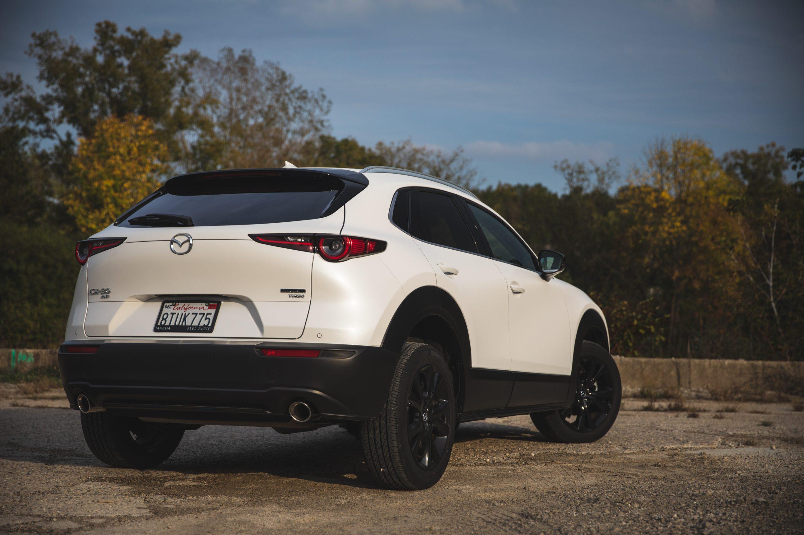 Mazda CX30 rear three-quarter