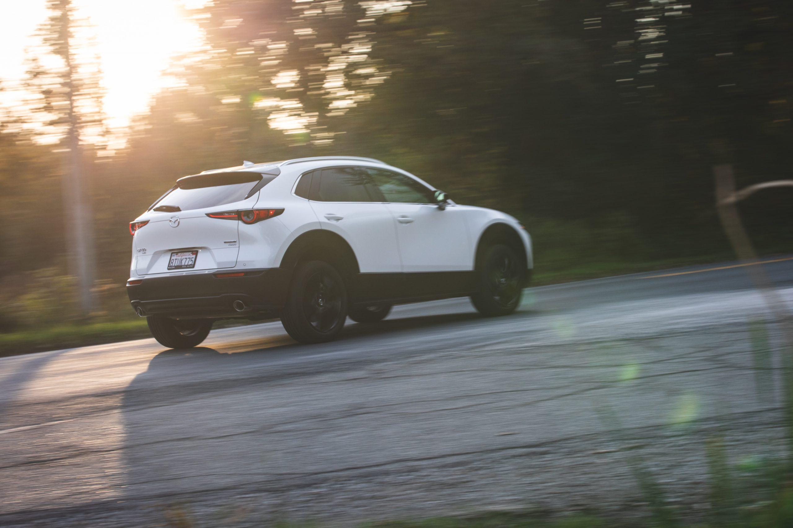 Mazda CX30 rear three-quarter action