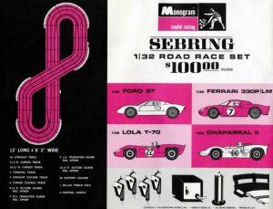 Monogram Sebring slot car
