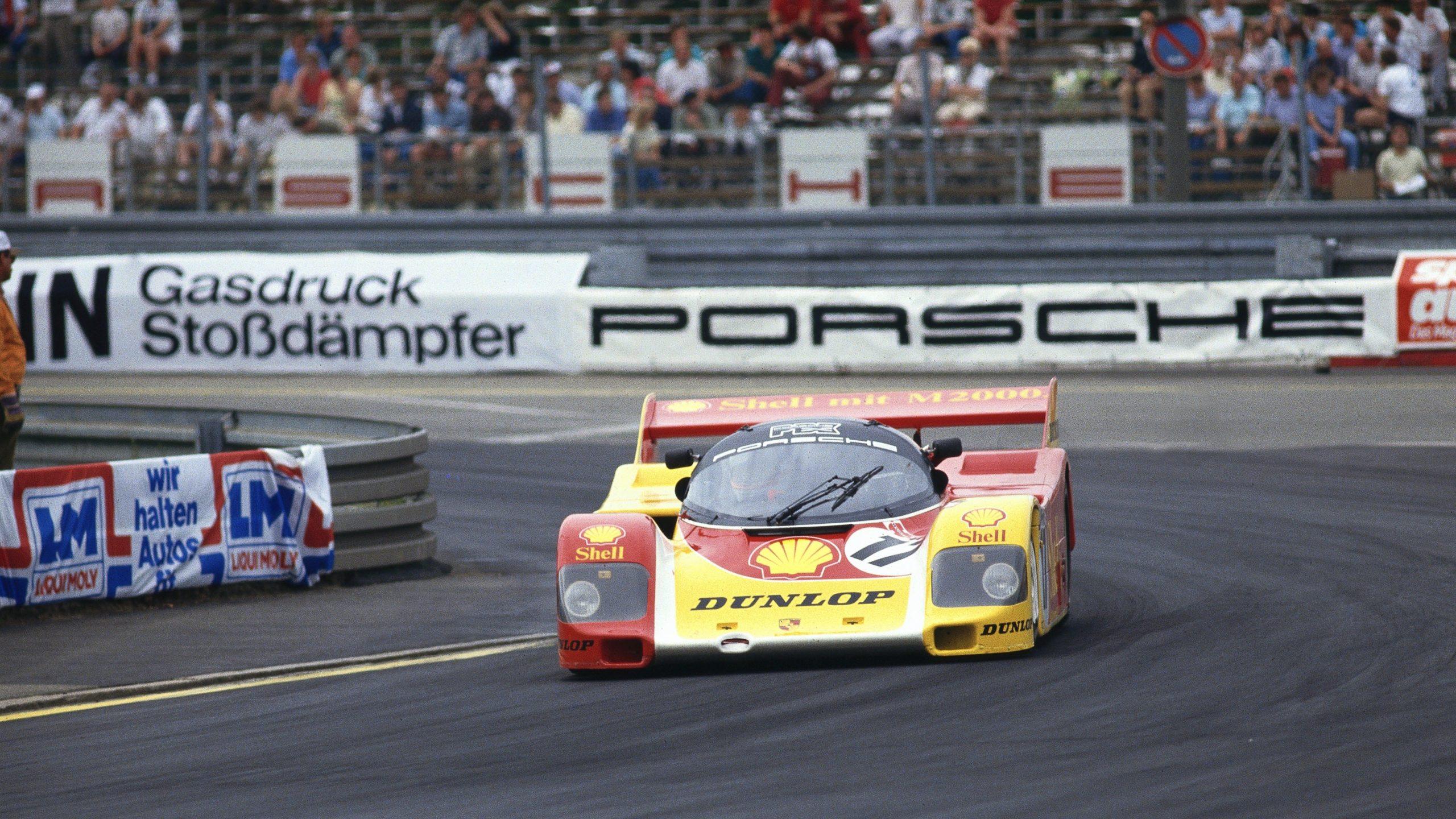 Porsche 962 C in period racing front end