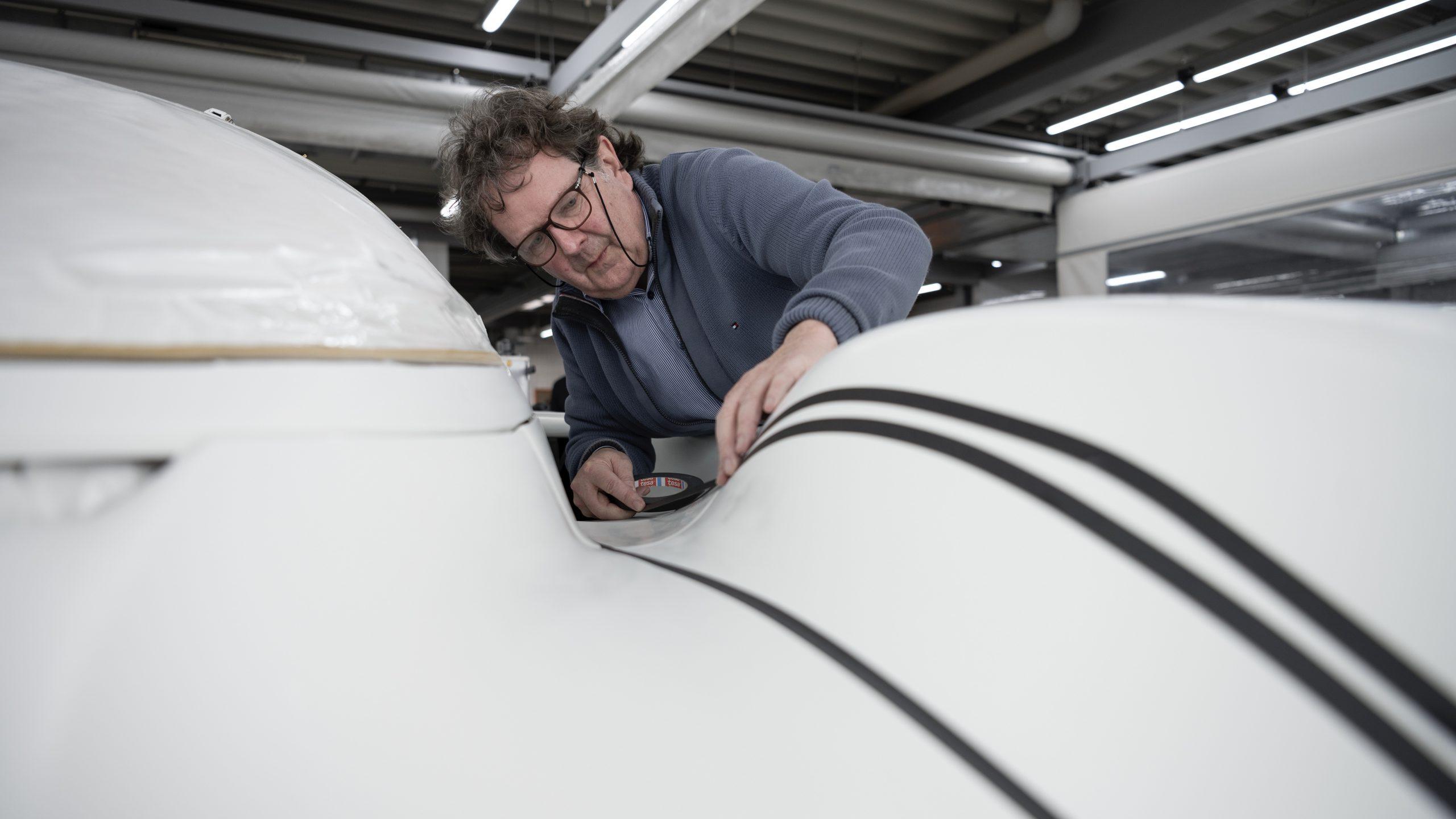 Porsche 962 C restoration process Rob Powell tape details