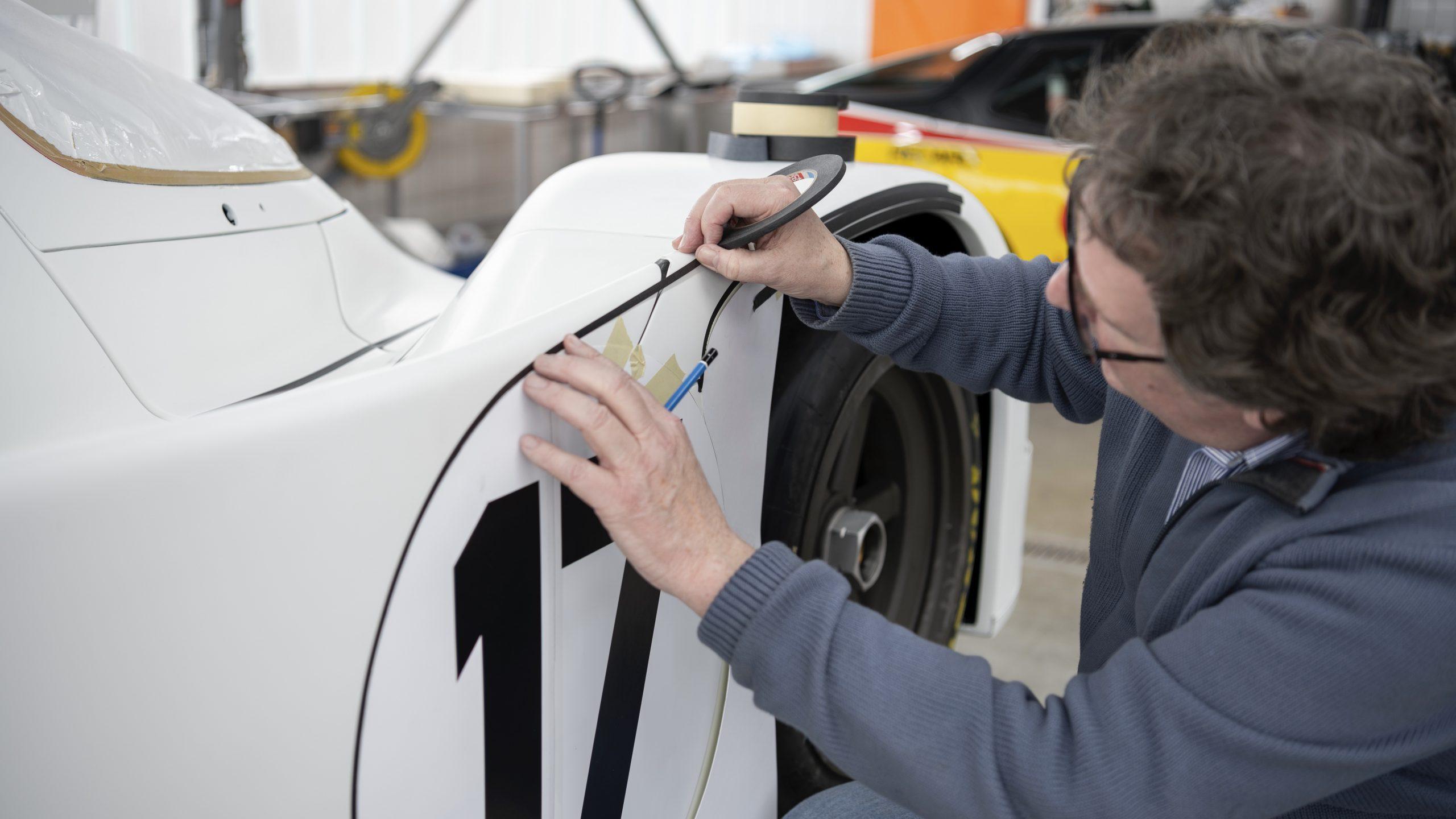 Porsche 962 C Rob Powell restoration process livery details