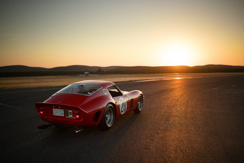 Thunderhill Ferrari rear three-quarter