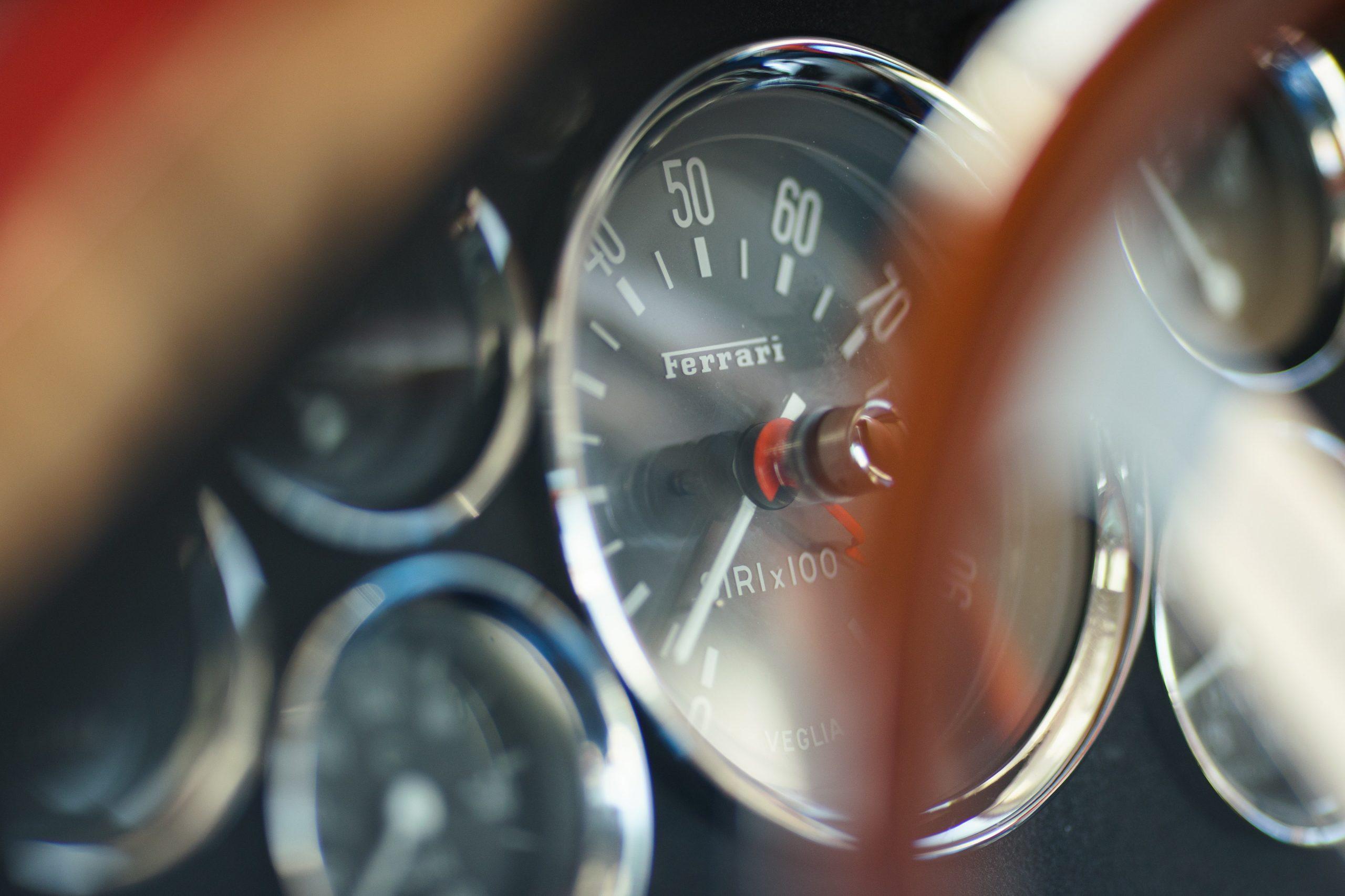 Thunderhill Ferrari gauge detail