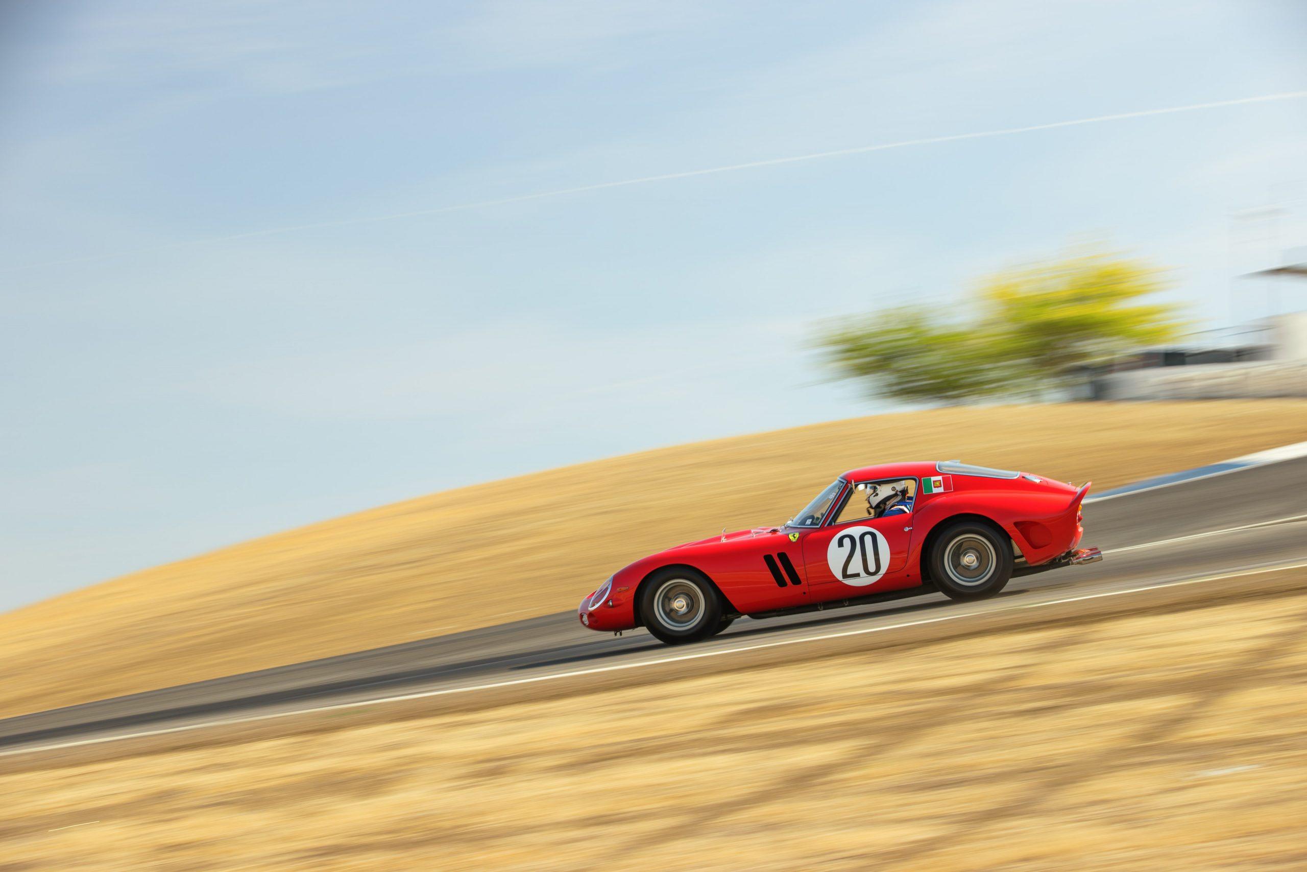 Thunderhill Ferrari track action side