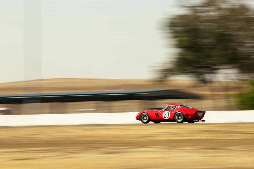 Thunderhill Ferrari track action rear three-quarter