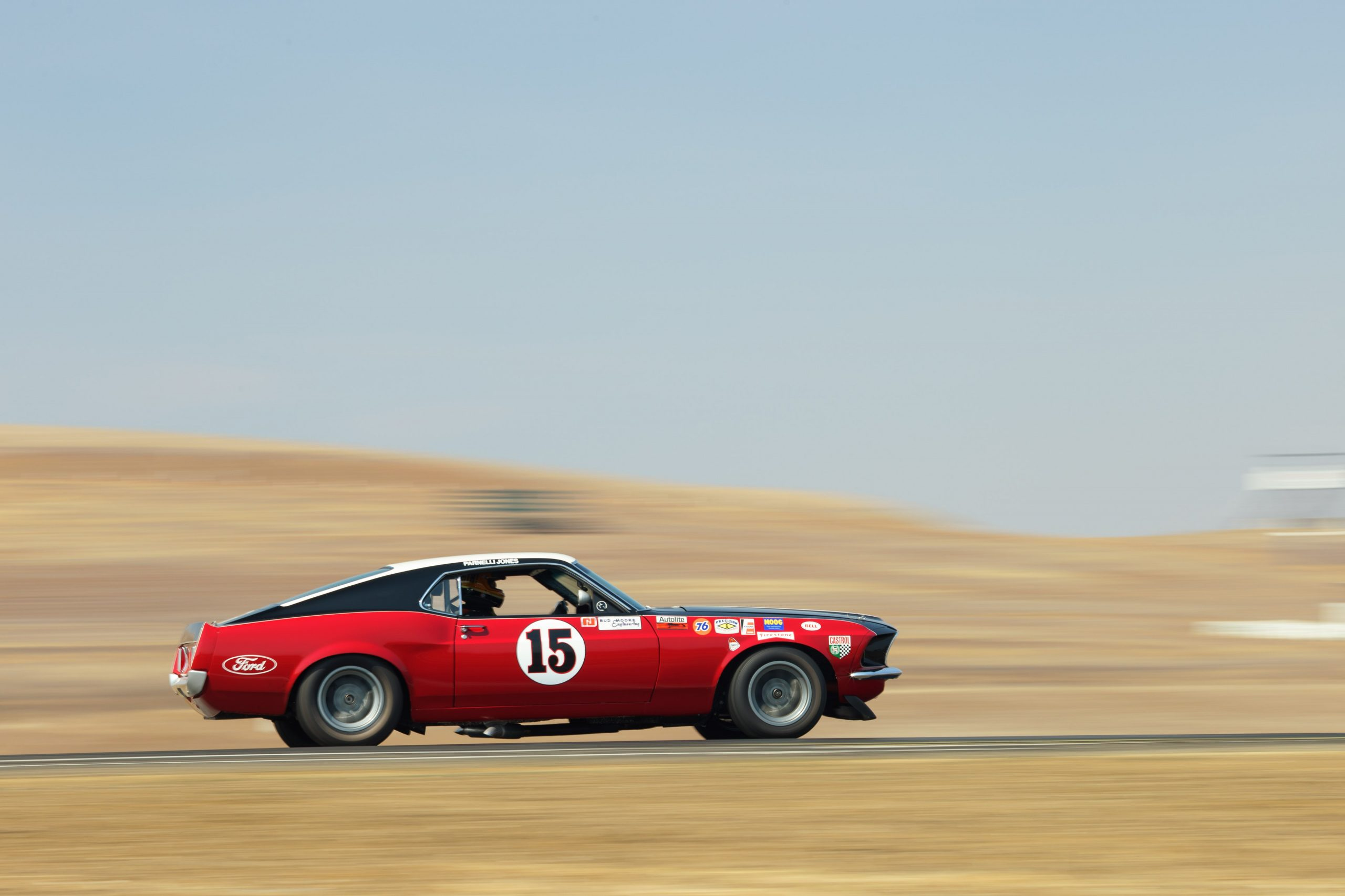 Thunderhill mustang track action side