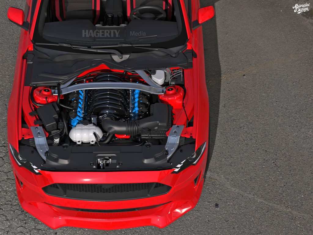 What If 21 Cobra R red engine bay